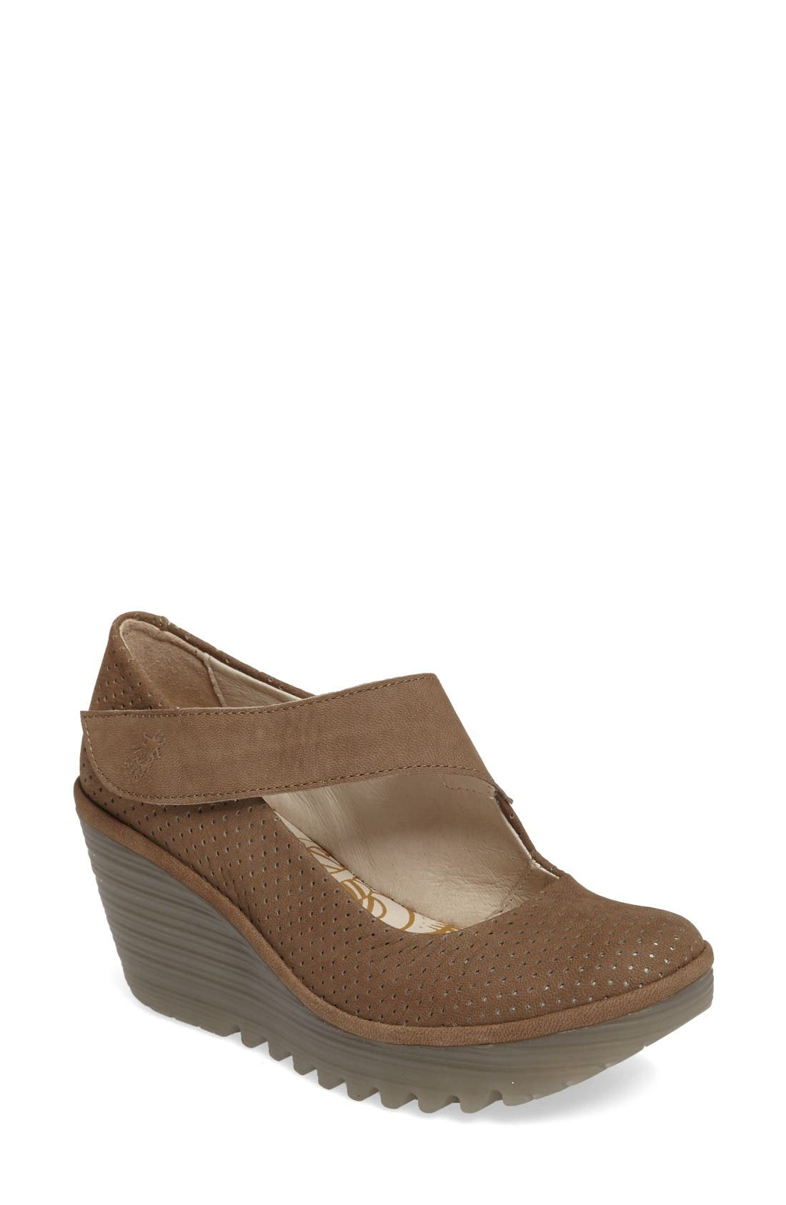 Fly London Yeon Mary Jane Platform Wedge (Women)