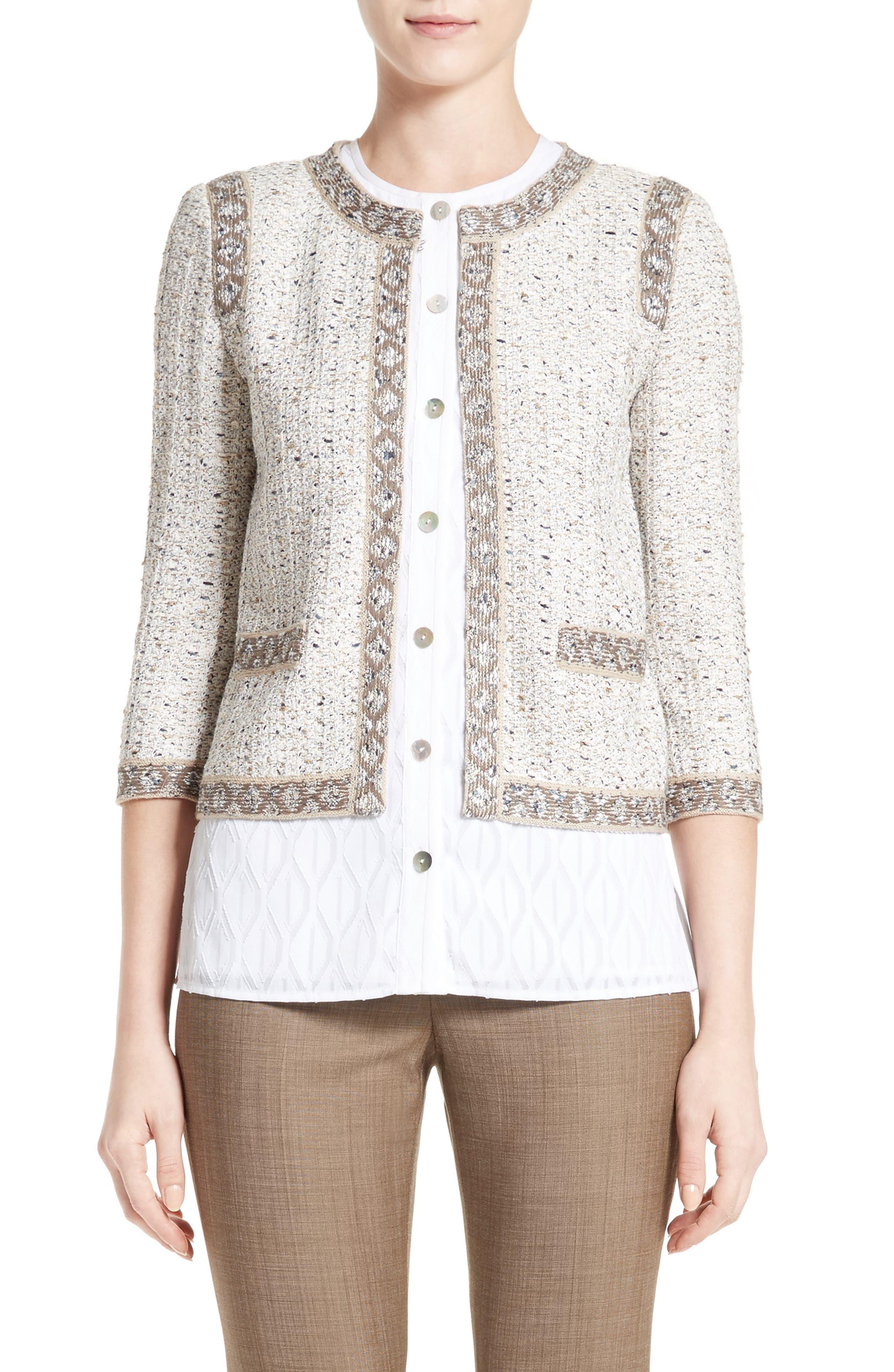 Alternate Image 1 Selected - St. John Collection Kira Tweed Jacket