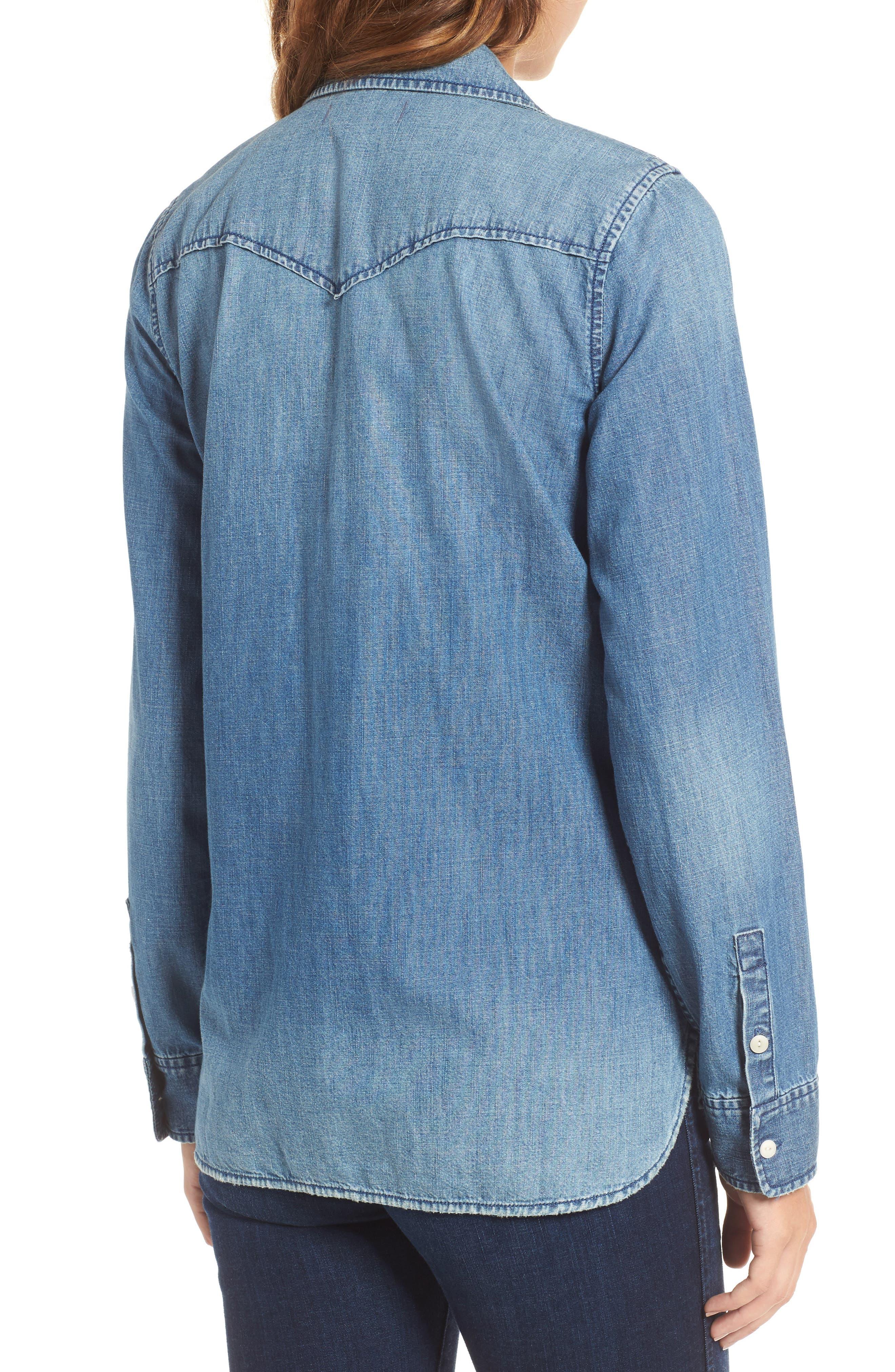 Alternate Image 2  - Madewell Lace-Up Denim Shirt