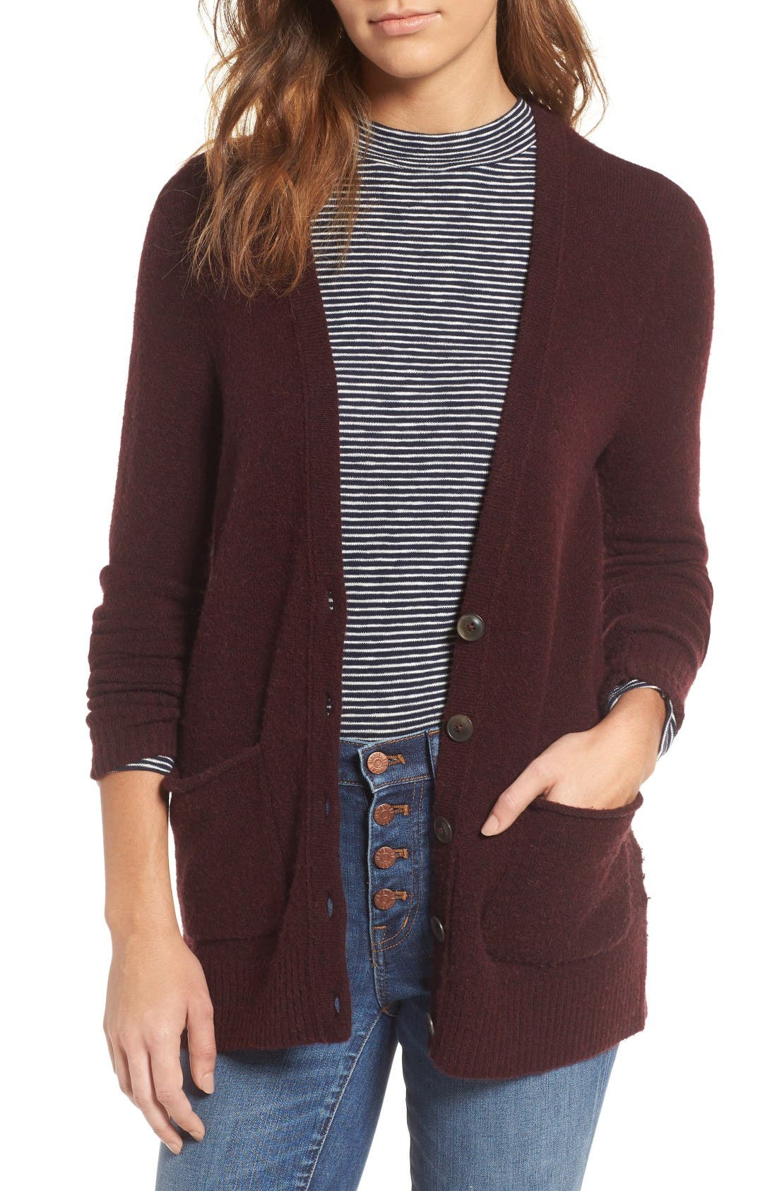 Alternate Image 1 Selected - Madewell Cozy Boyfriend Cardigan