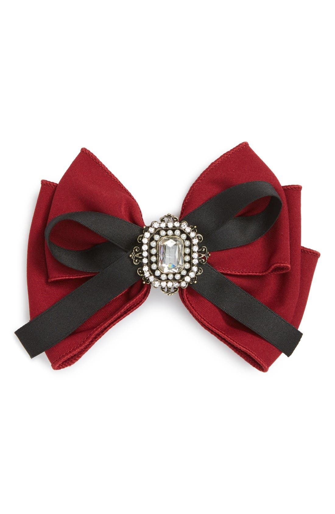Alternate Image 1 Selected - Cara Crystal Bow Barrette