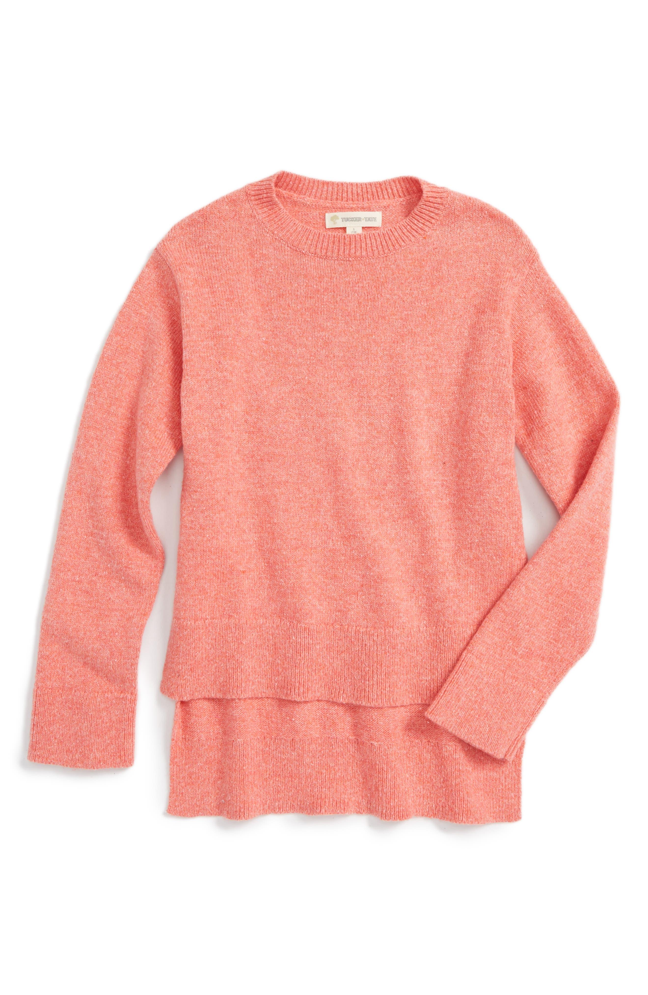 Alternate Image 1 Selected - Tucker + Tate High/Low Sweater (Big Girls)