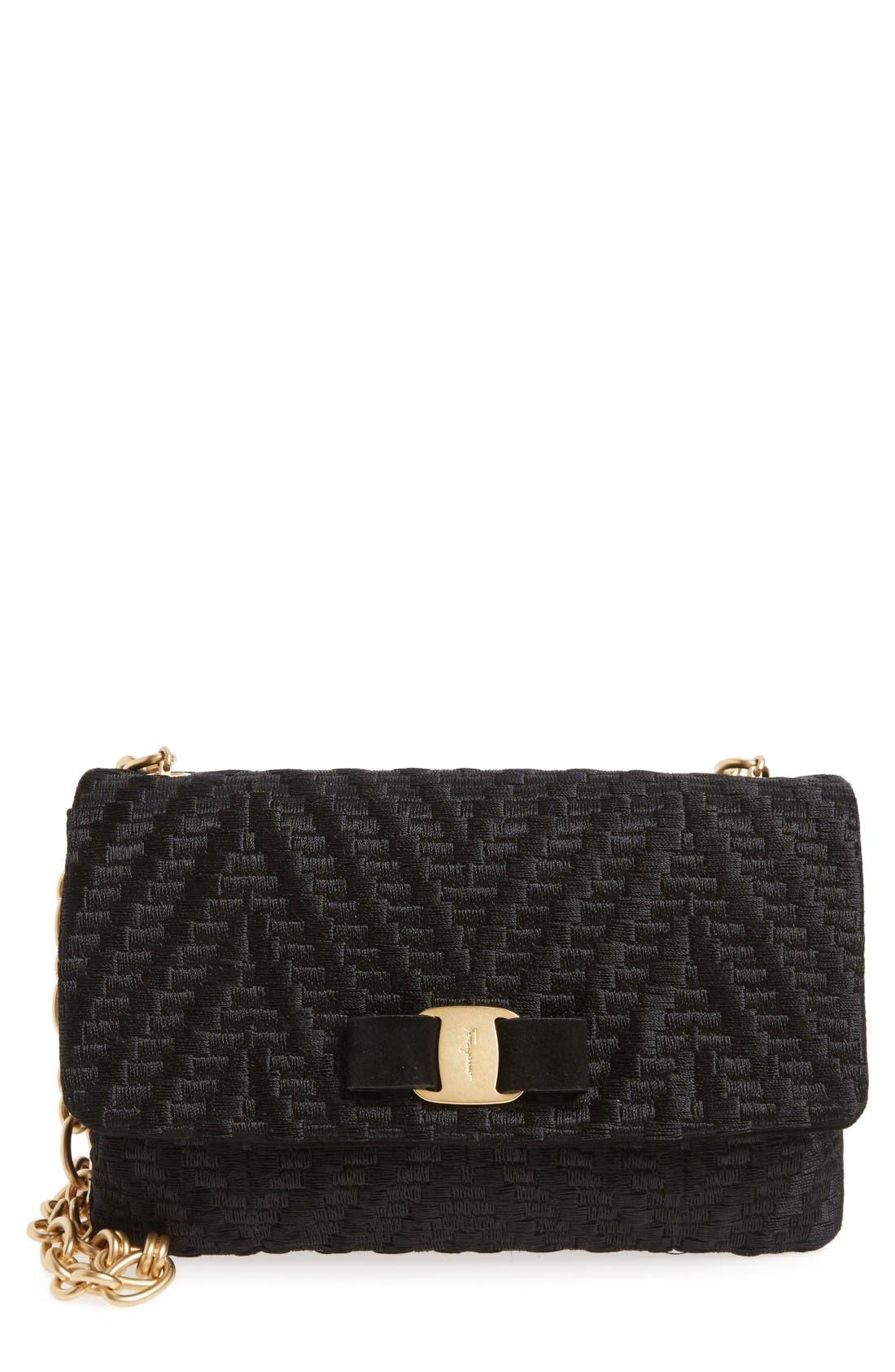 SALVATORE FERRAGAMO Ginny Textured Shoulder Bag
