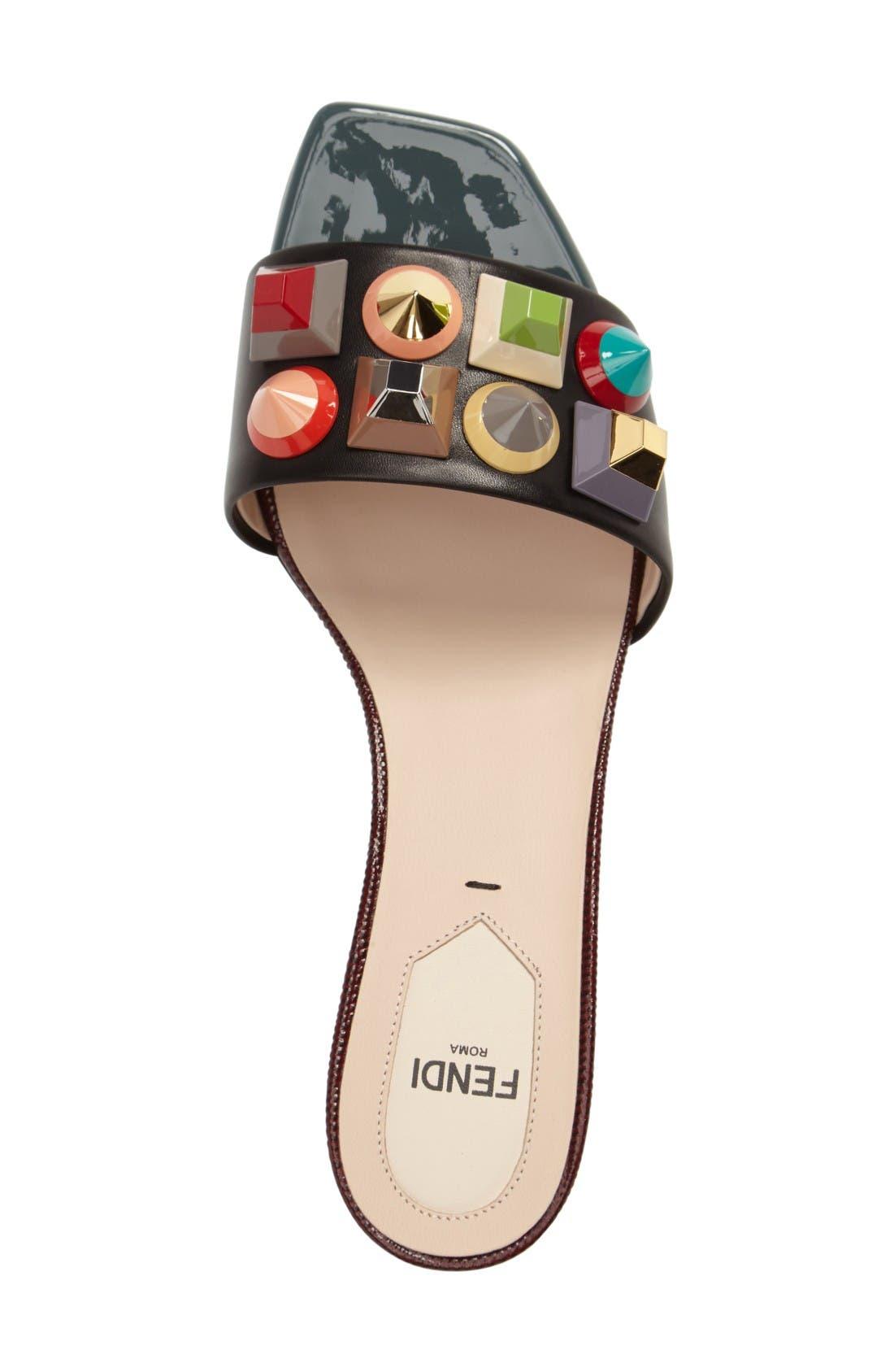 Alternate Image 3  - Fendi Stud Rainbow Slide Sandal (Women)