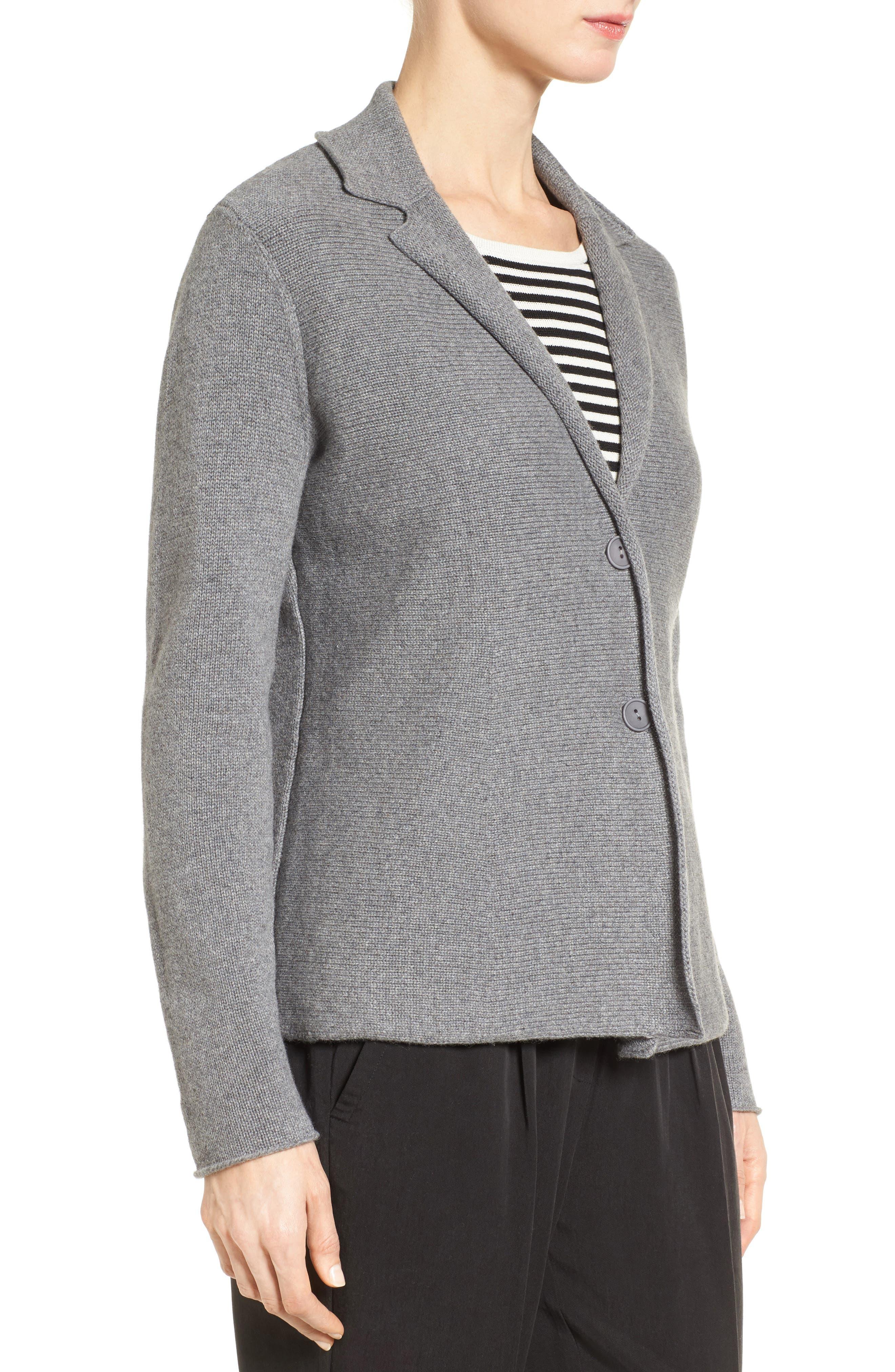 Alternate Image 3  - Eileen Fisher Recycled Cashmere & Merino Wool Sweater Jacket