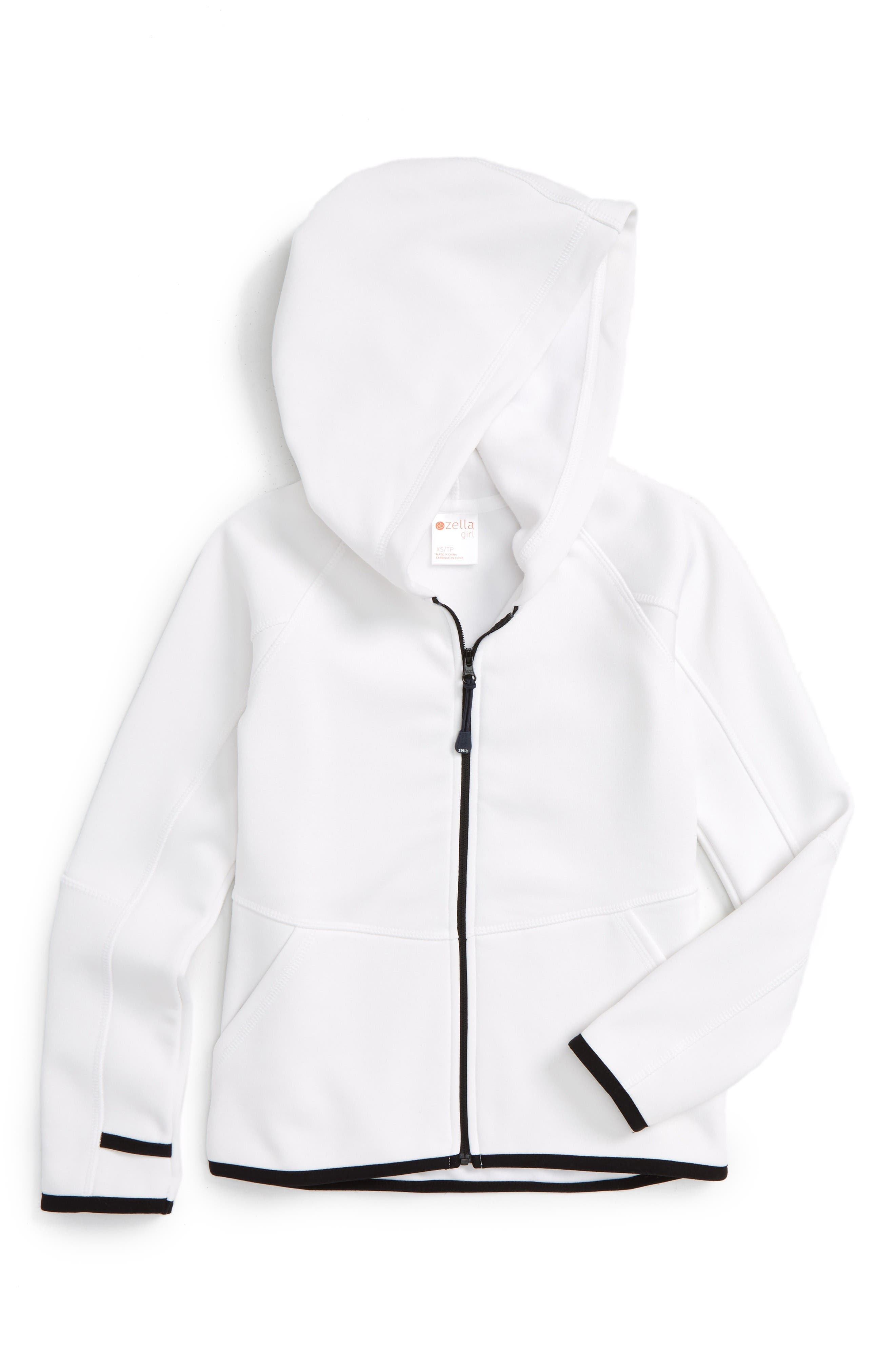 Alternate Image 1 Selected - Zella Girl Soft Tech Fleece Jacket (Little Girls & Big Girls)