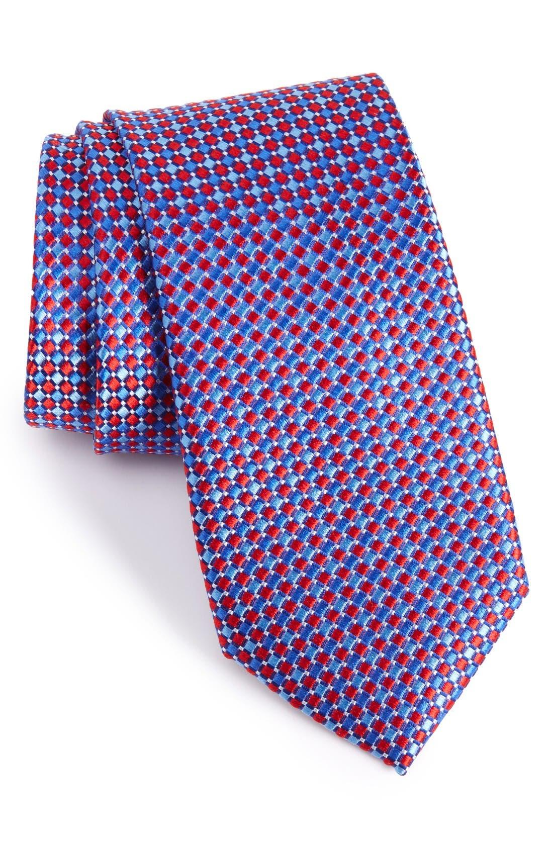 Nordstrom Men's Shop Geo Pattern Silk Tie