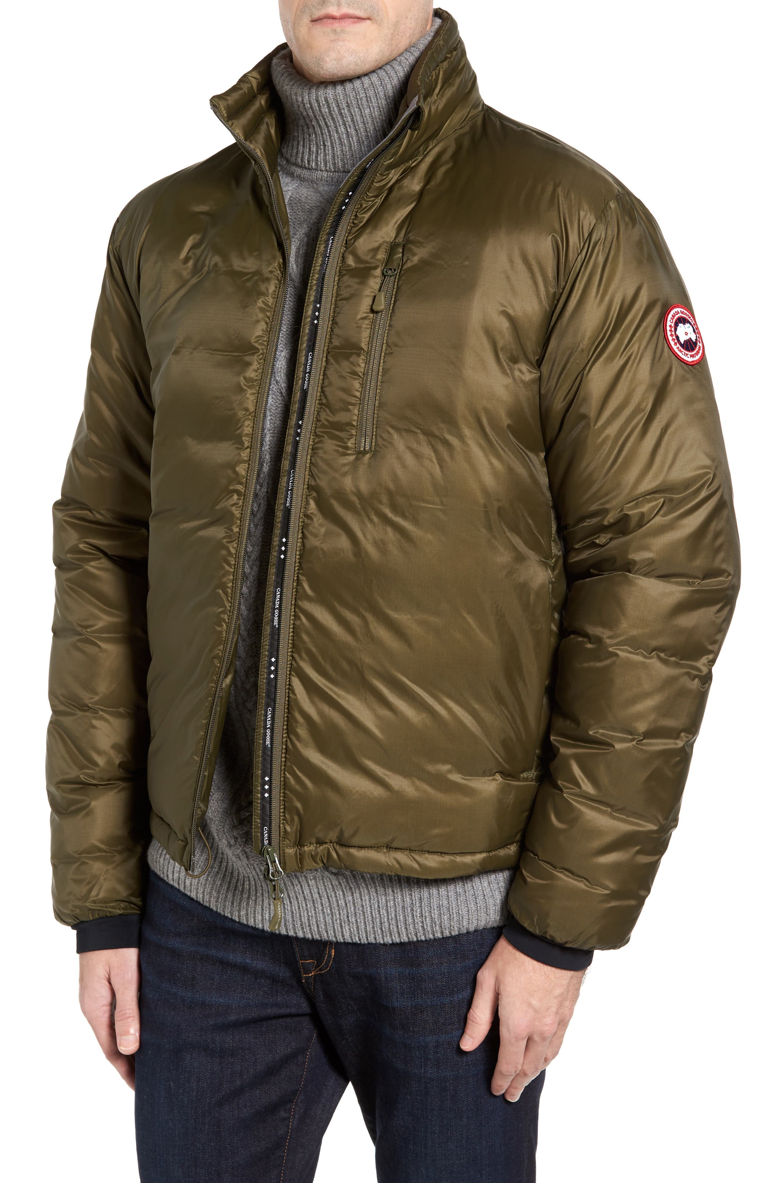 Alternate Image 1 Selected - Canada Goose 'Lodge' Slim Fit Packable Windproof 750 Down Fill Jacket