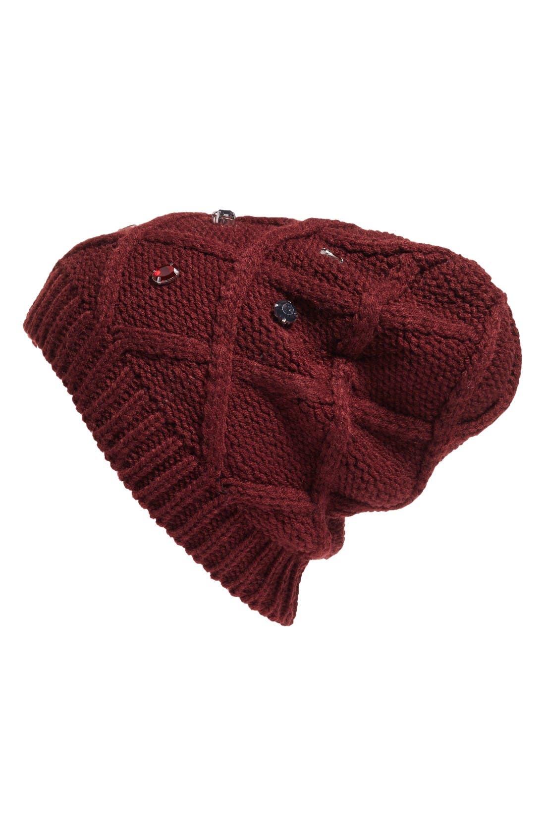 Main Image - Halogen® Embellished Knit Beanie