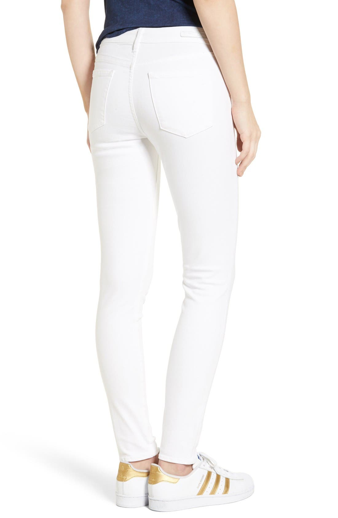 Alternate Image 3  - Articles of Society Sarah Skinny Jeans (Clear White)