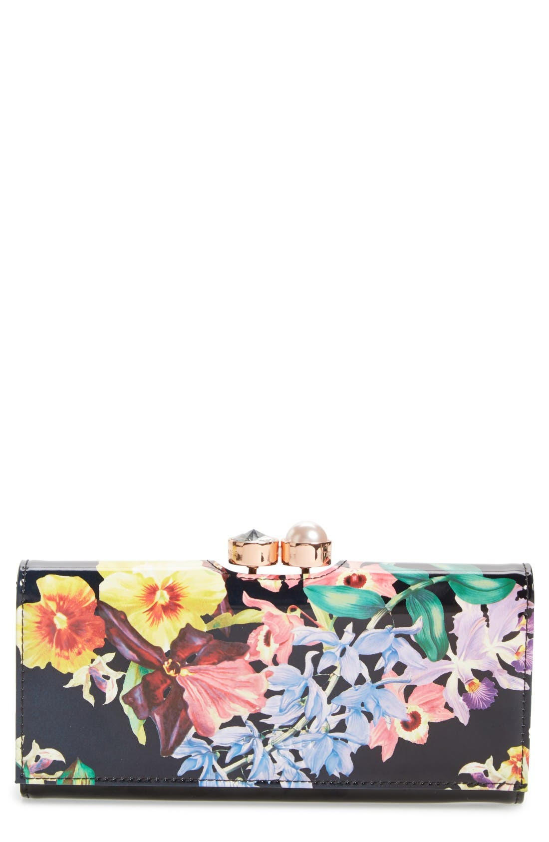Ted Baker London Lost Gardens Leather Matinee Wallet