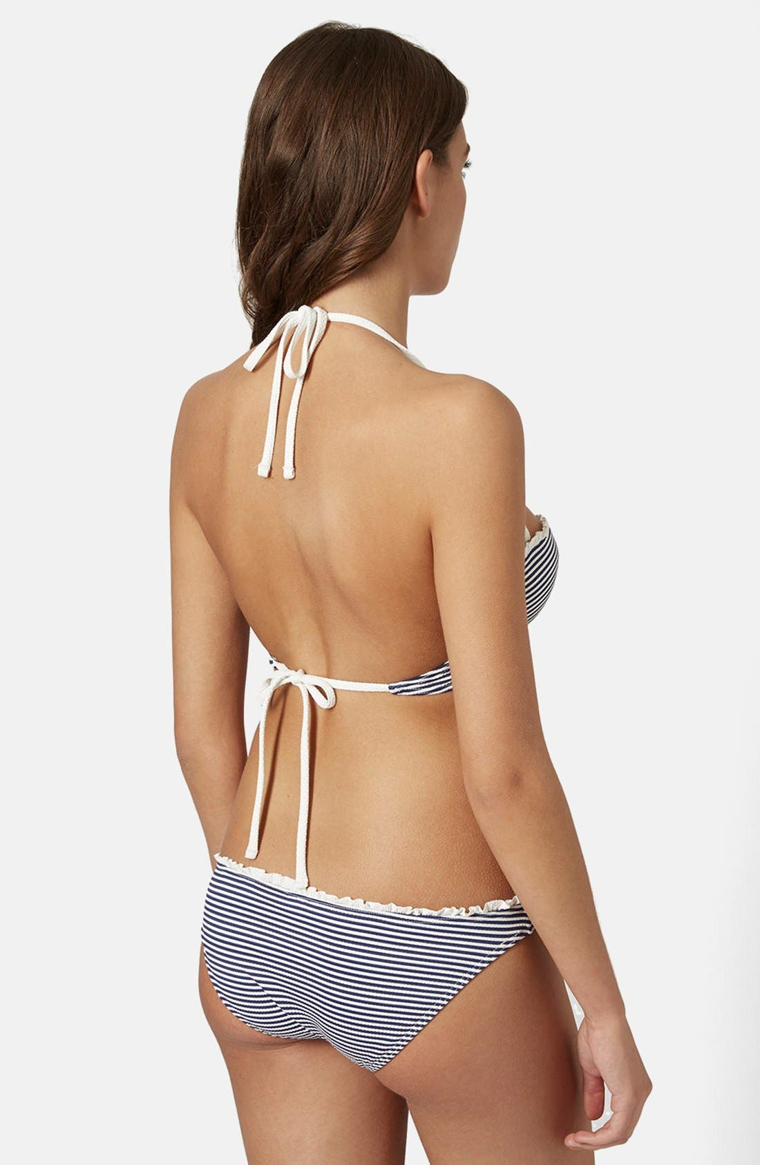 Alternate Image 2  - Topshop Nautical Stripe Bikini Set