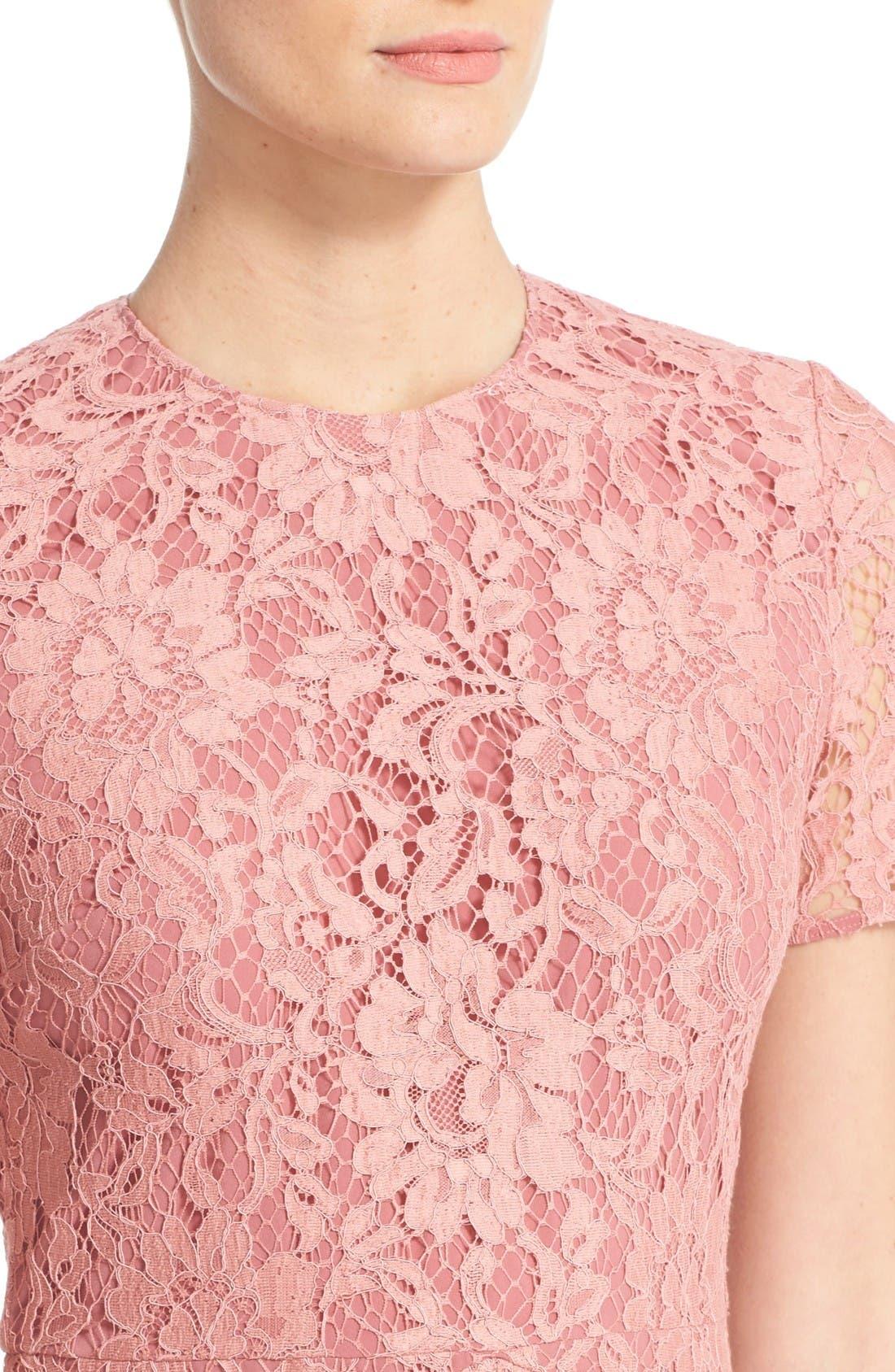 Alternate Image 6  - Burberry Christy Lace Fit & Flare Dress