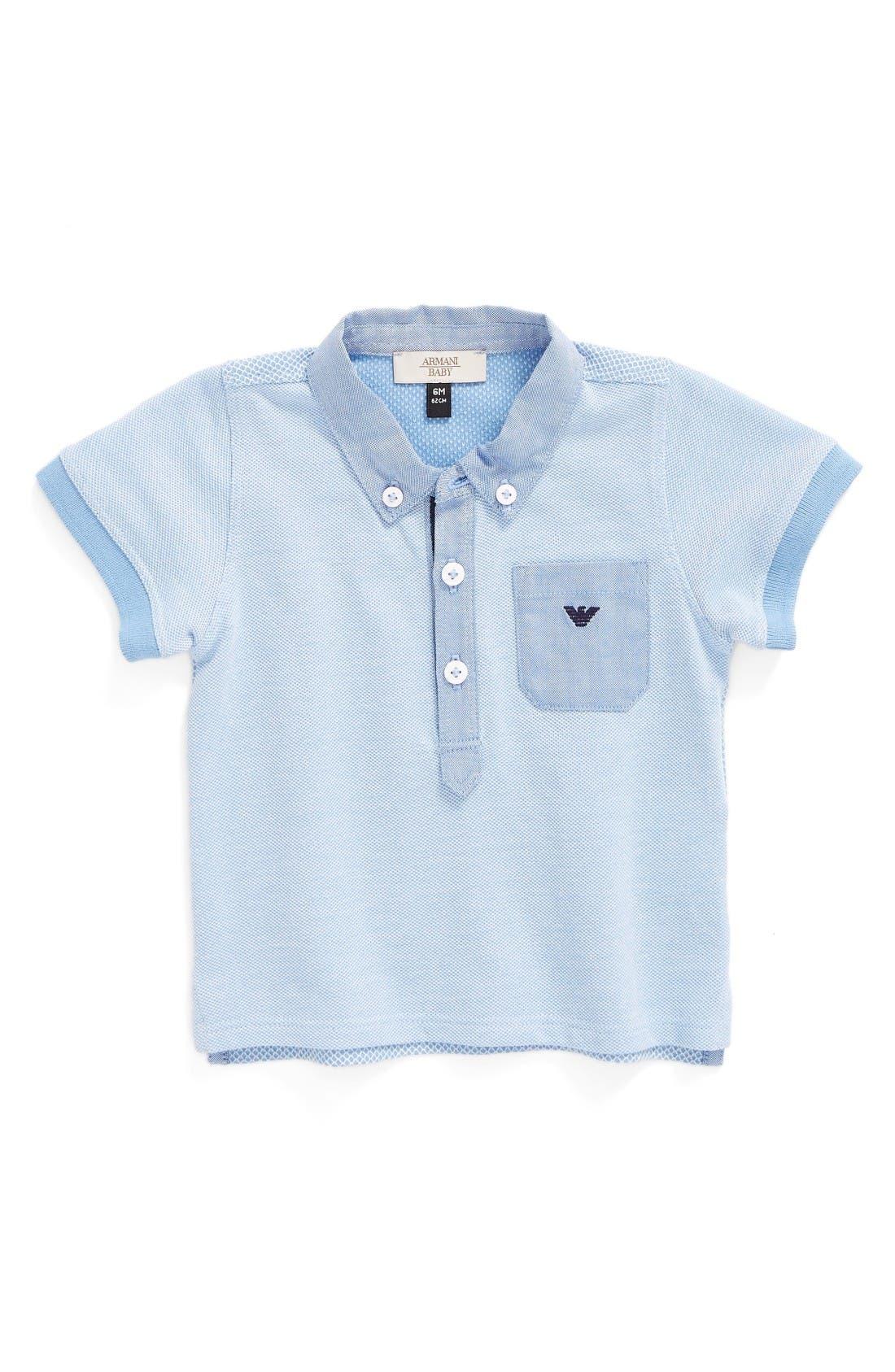 Armani Junior Piqué Polo (Baby Boys)