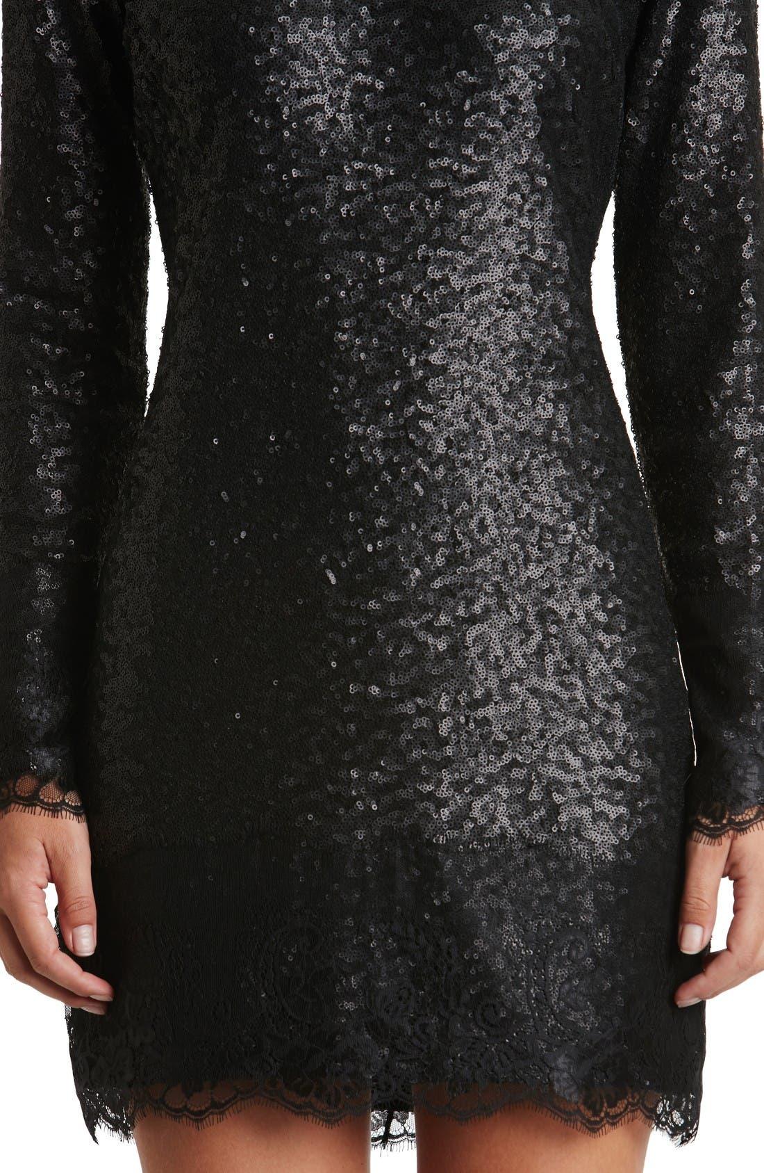 Alternate Image 5  - Dress the Population Kate Lace Trim Sequin Dress