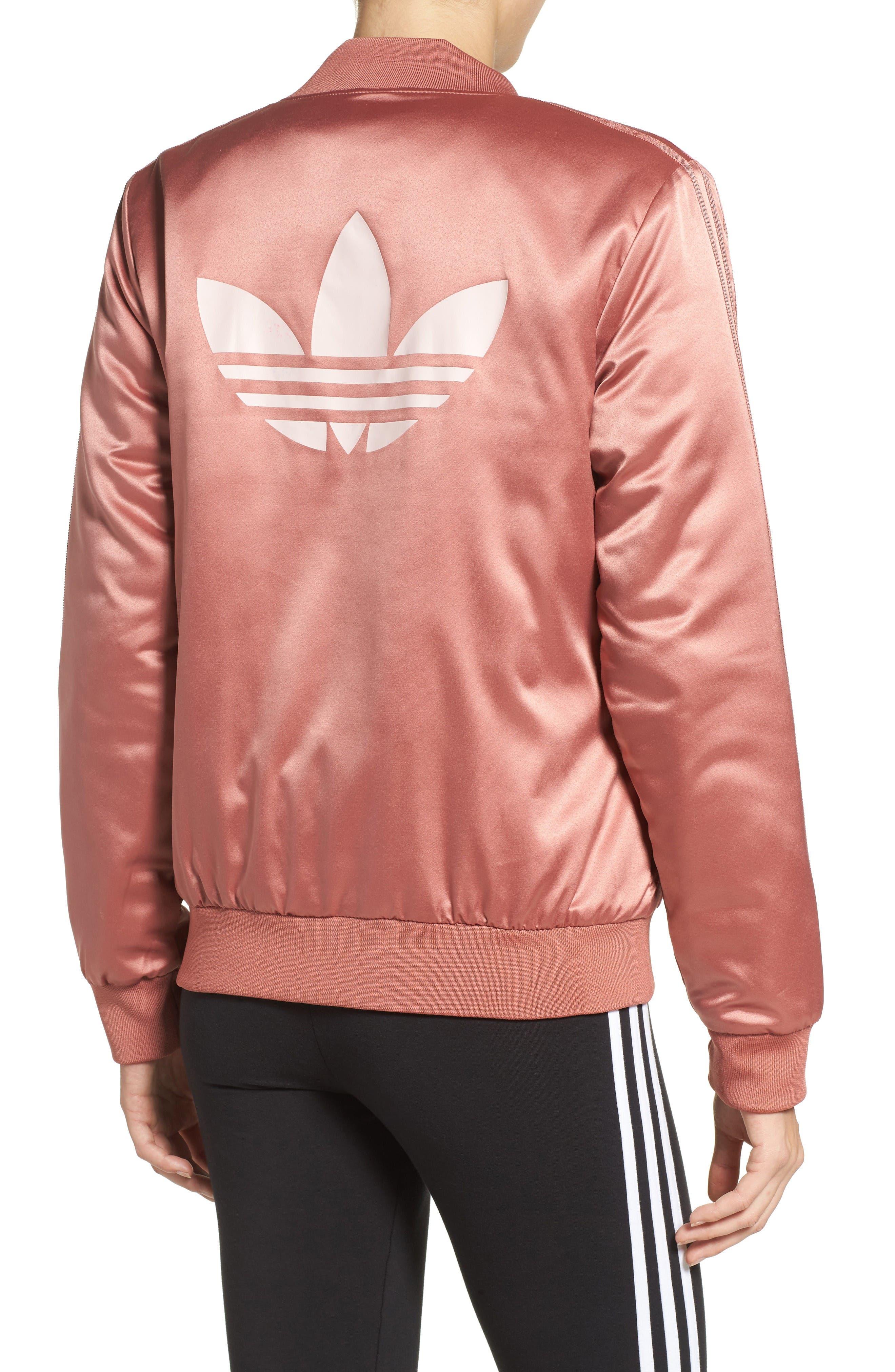 Alternate Image 2  - adidas Originals Trefoil Satin Jacket