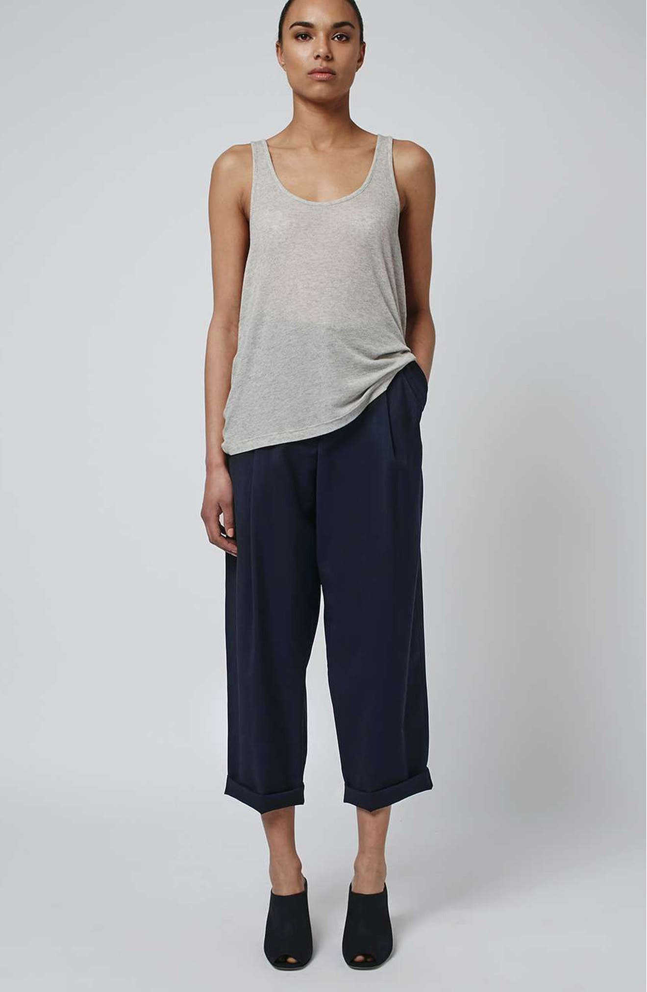 Alternate Image 2  - Topshop Boutique Wool Trousers