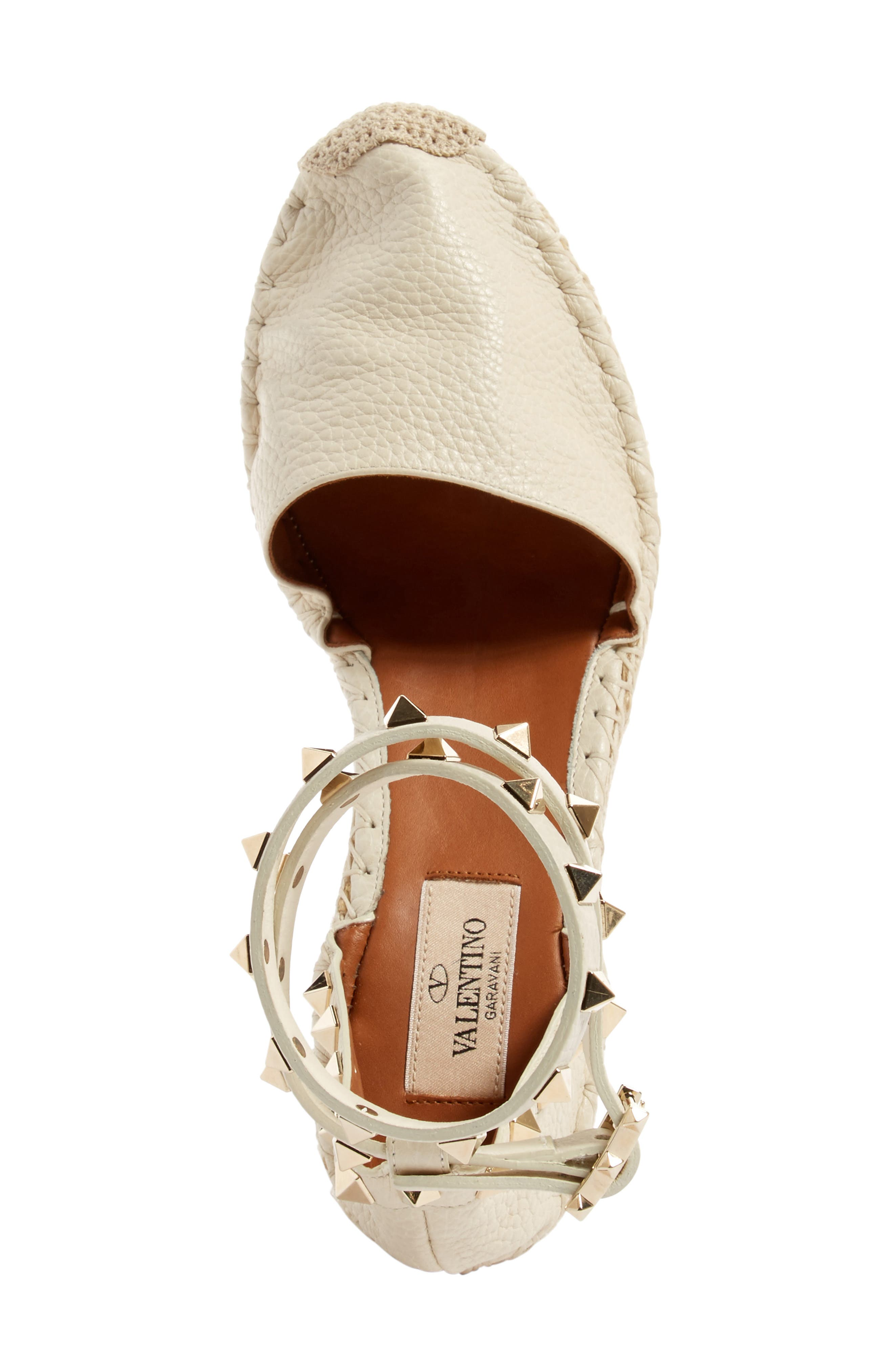 Alternate Image 3  - Valentino Rockstud Espadrille Wedge (Women)