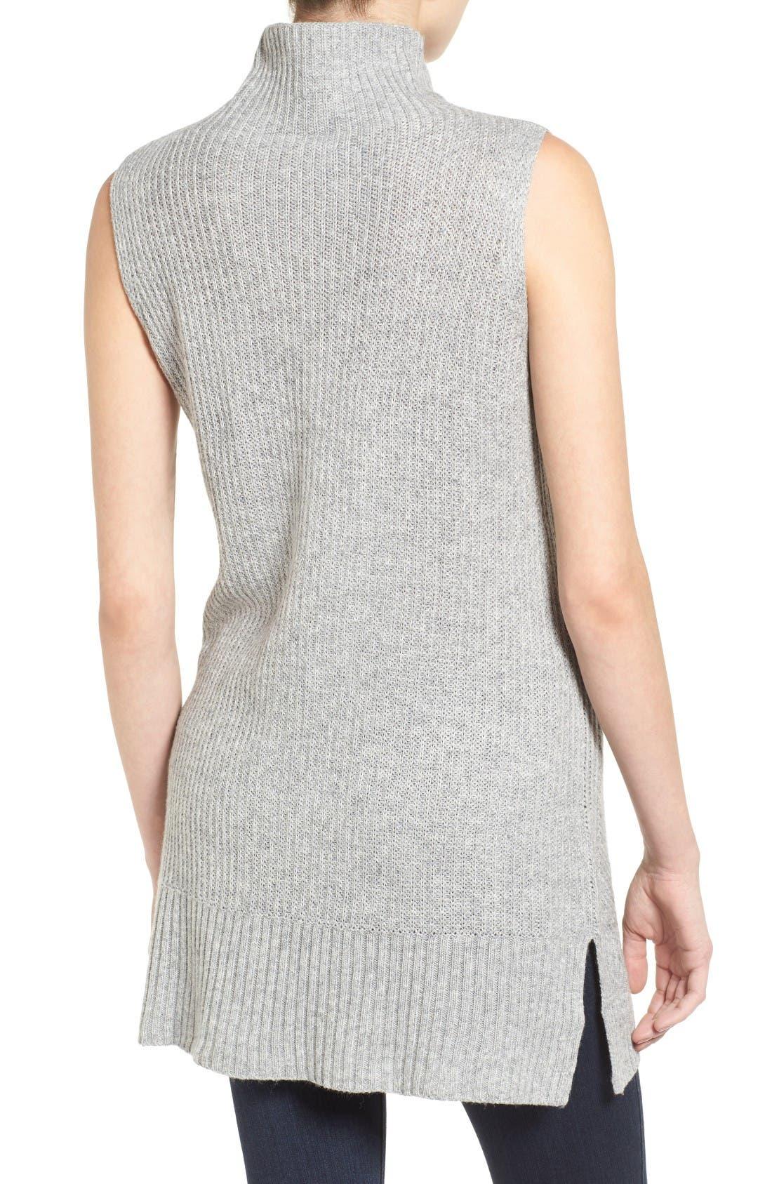Alternate Image 2  - Halogen® Sleeveless Tunic Sweater (Regular & Petite)