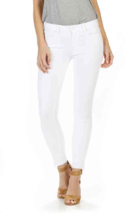 PAIGE Verdugo Crop Ultra Skinny Jeans (Crisp White) (Nordstrom Exclusive)