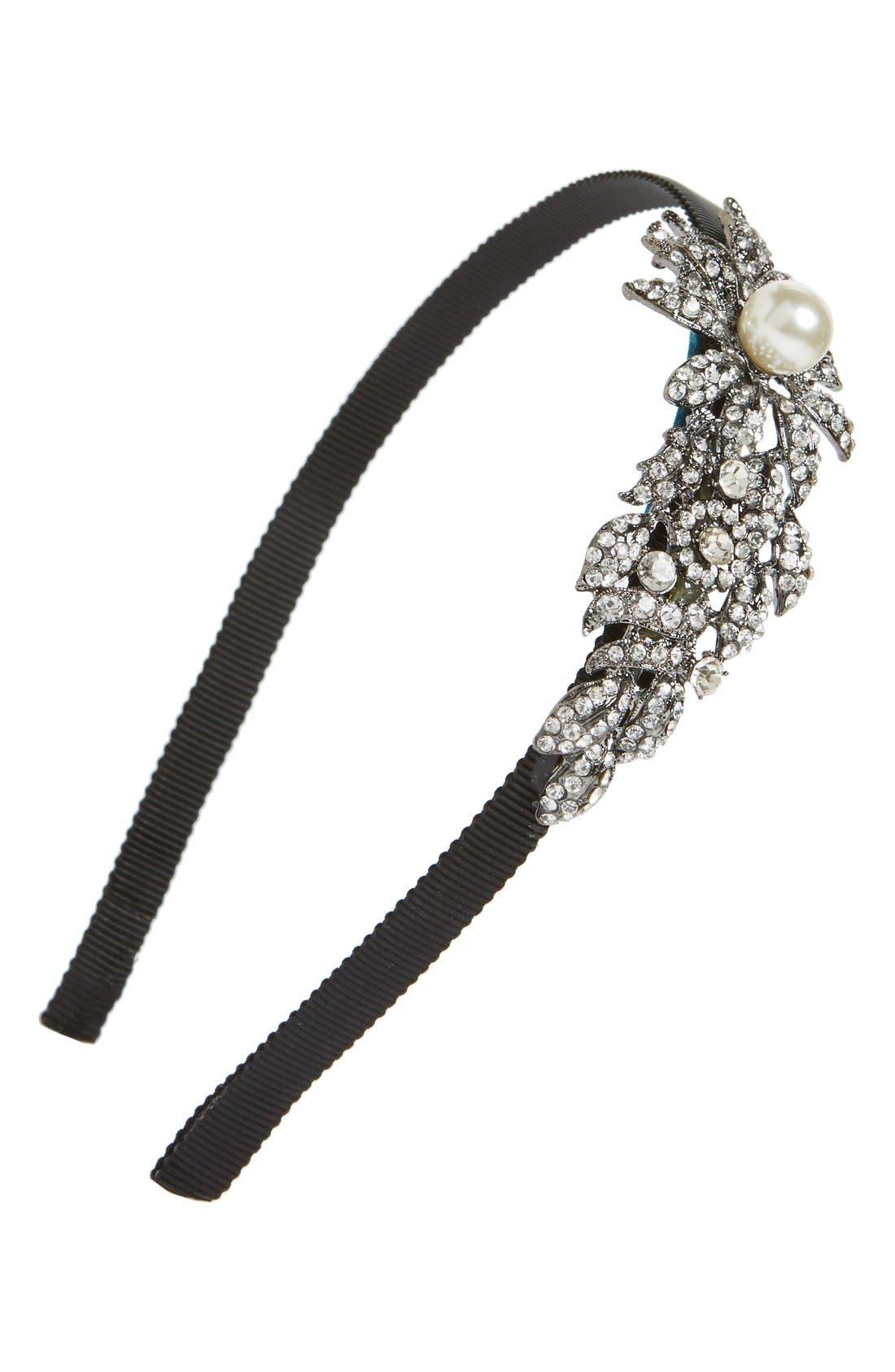 Main Image - Tasha Bead & Crystal Flower Headband