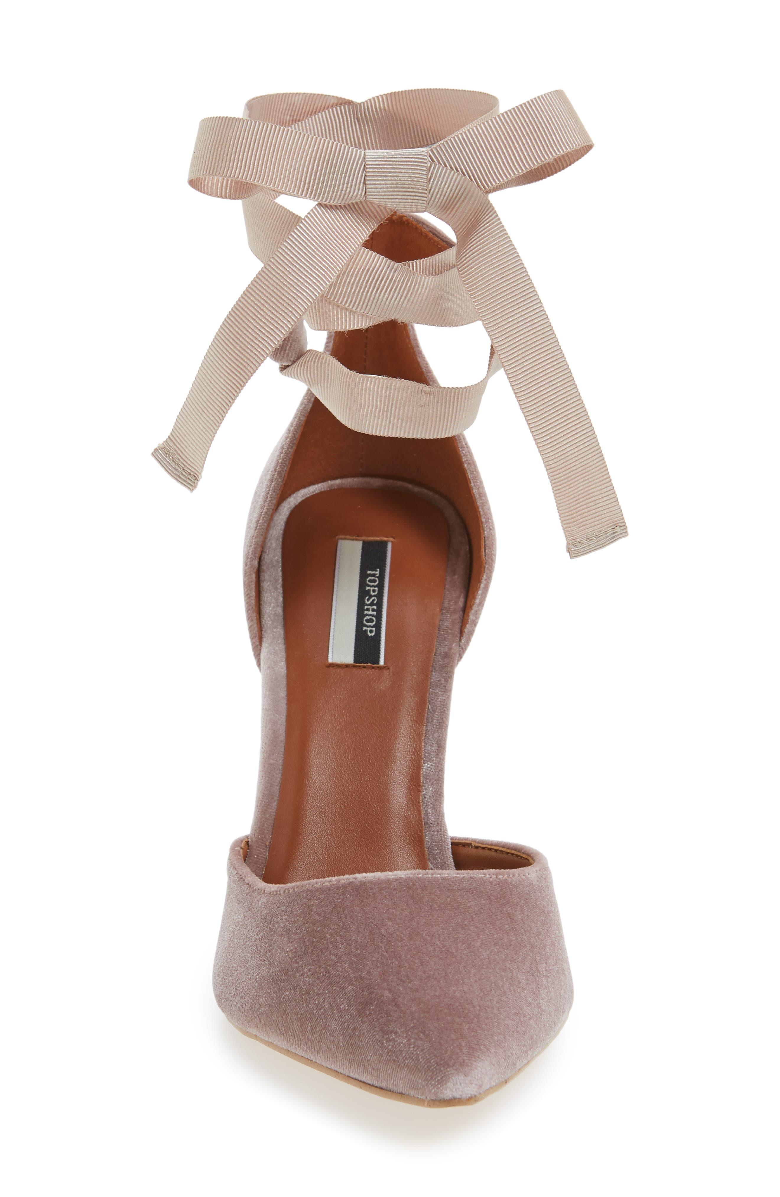 Alternate Image 3  - Topshop Graceful Ankle Tie d'Orsay Pump (Women)