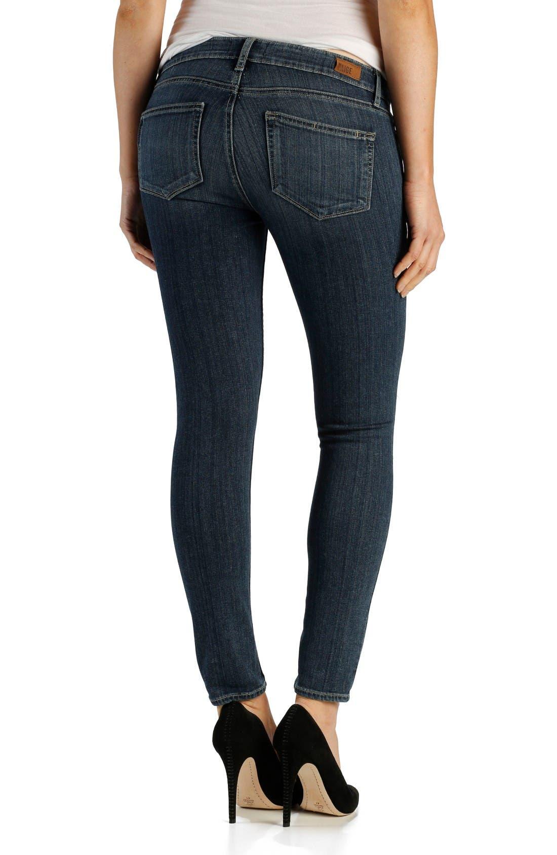 Alternate Image 2  - PAIGE Transcend - Verdugo Ankle Ultra Skinny Jeans (Adira Destructed)