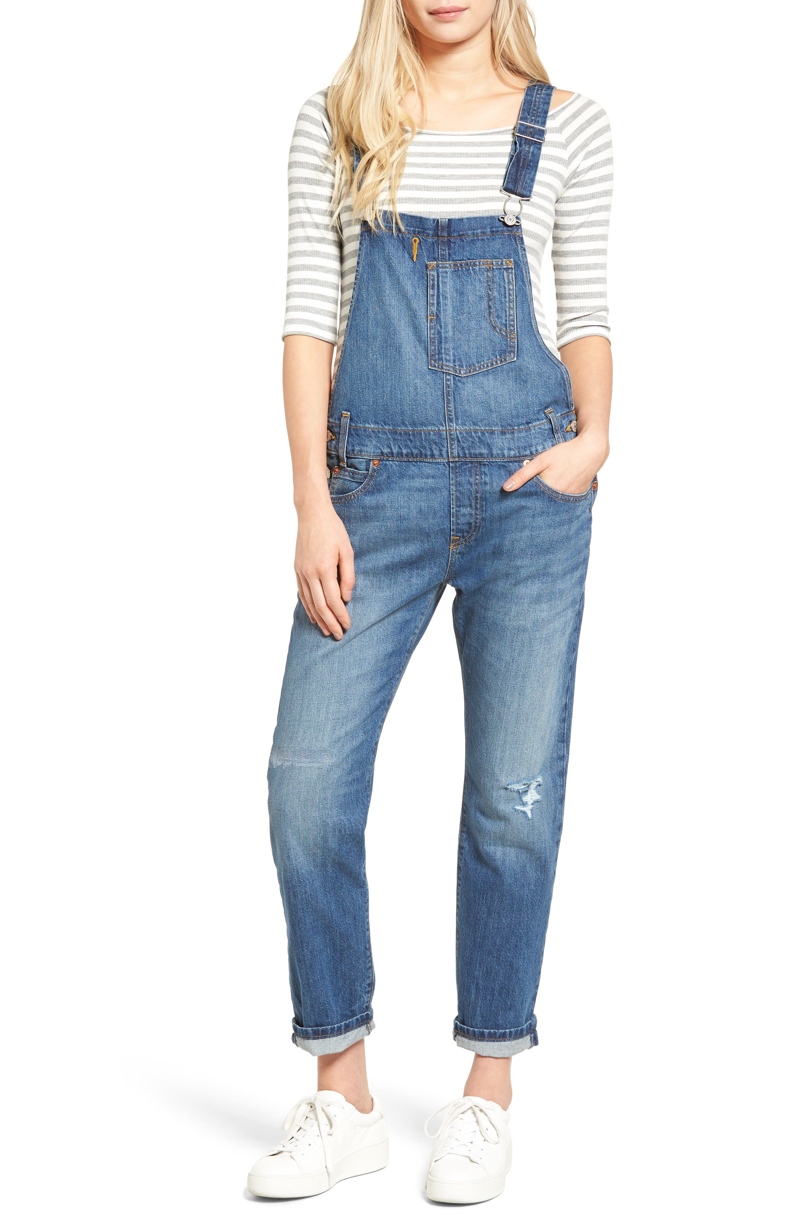 Alternate Image 1 Selected - Levi's® Heritage Denim Overalls (Gold Rush Blue)