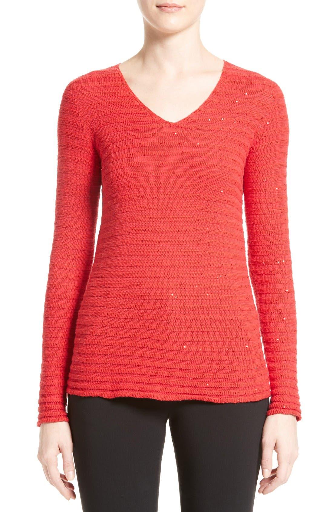 ARMANI COLLEZIONI Sequin Knit Sweater