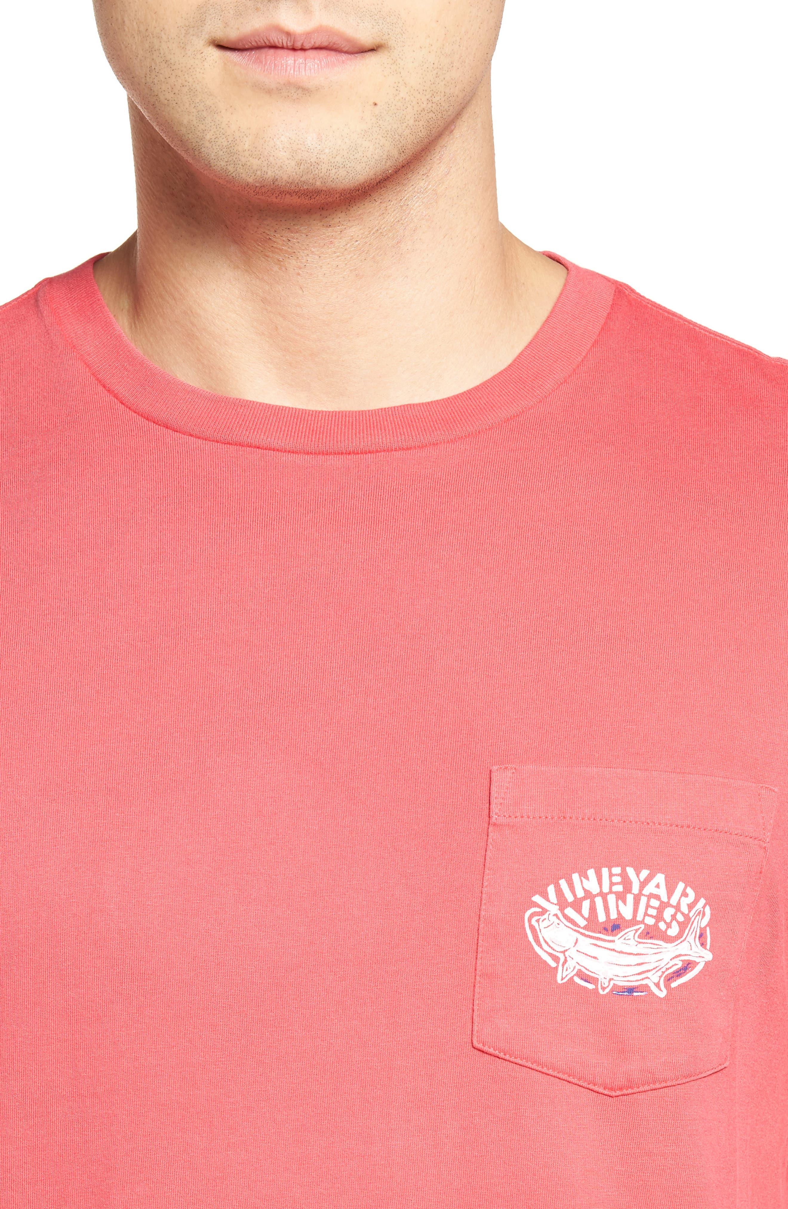 Alternate Image 4  - Vineyard Vines Stencil Tarpon Graphic Pocket T-Shirt