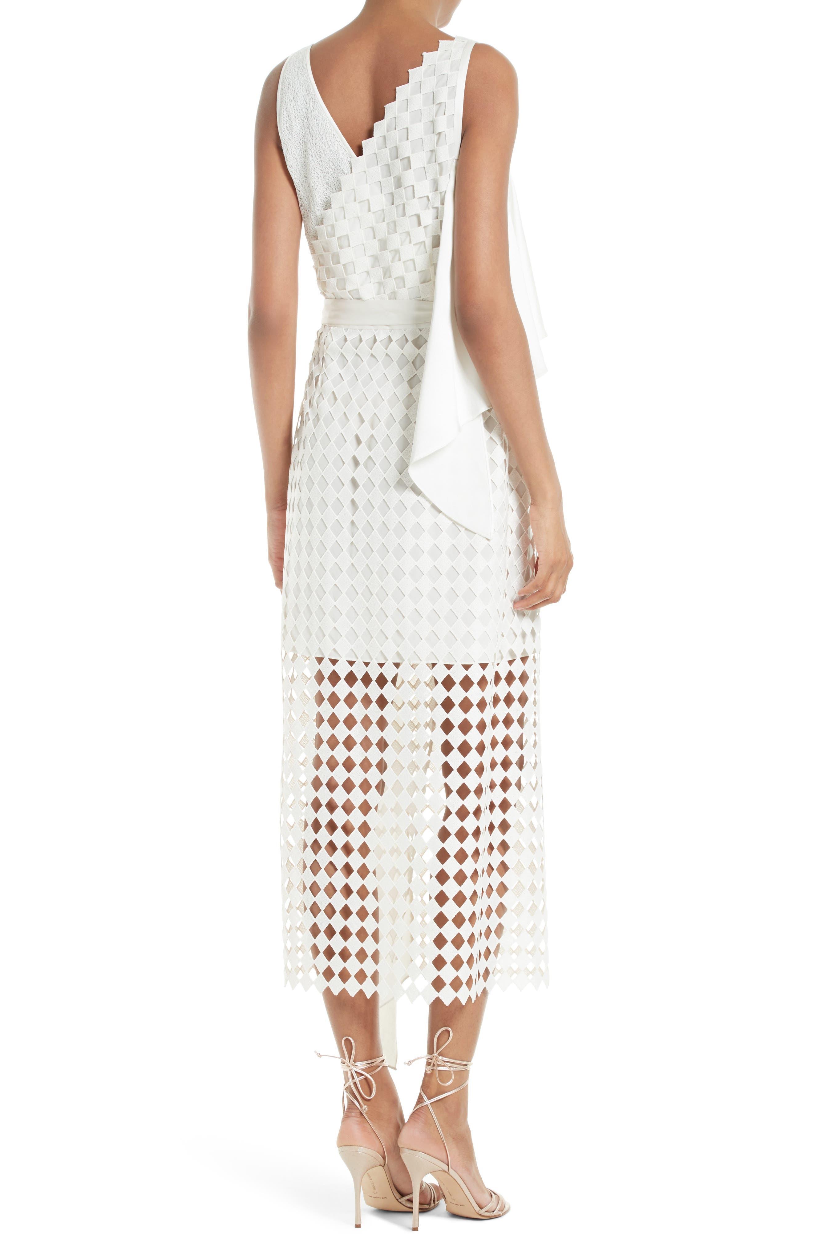 Alternate Image 2  - Diane von Furstenberg Asymmetrical Ruffle Mixed Media Wrap Dress