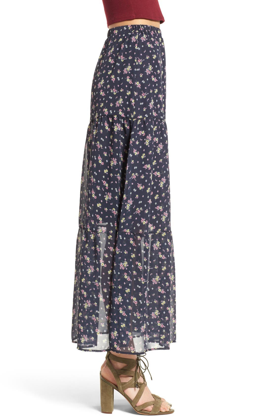 Alternate Image 3  - BP. Floral Print Maxi Skirt