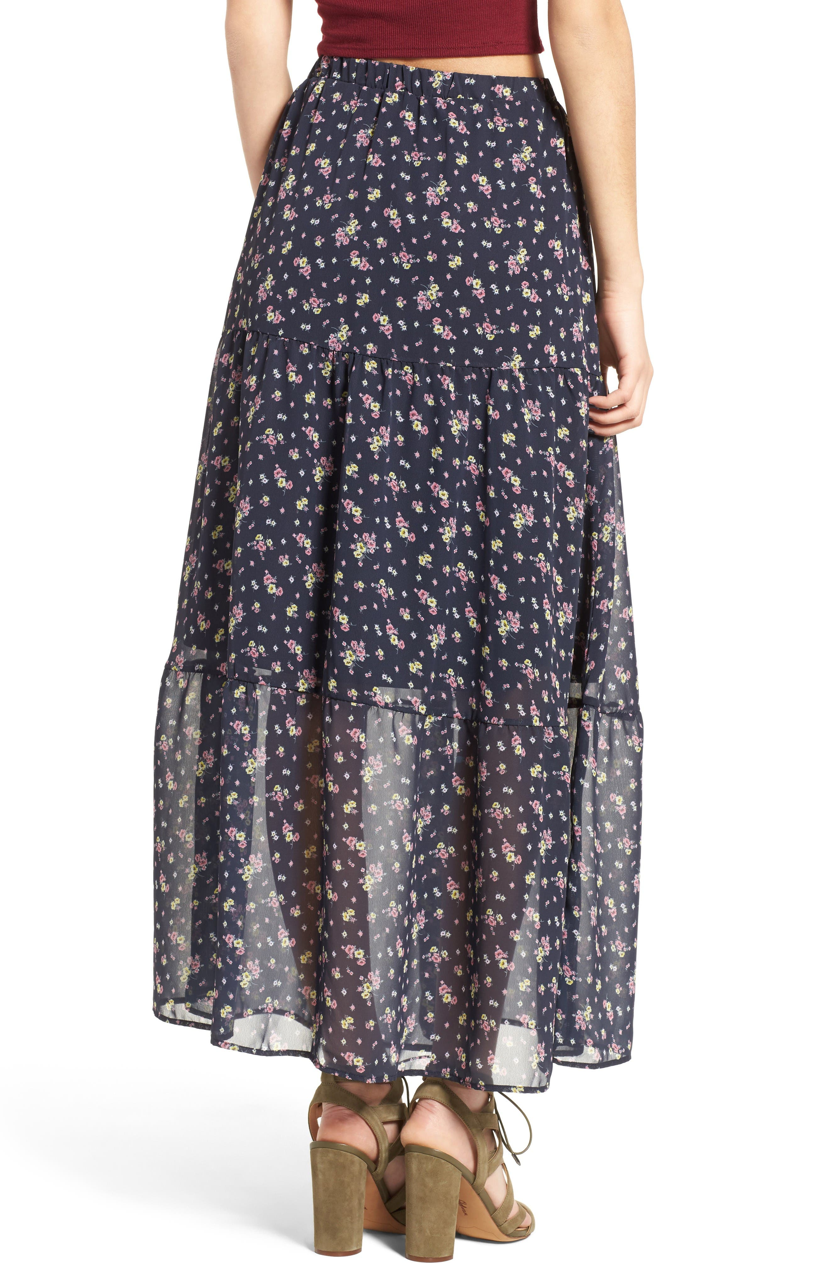 Alternate Image 2  - BP. Floral Print Maxi Skirt