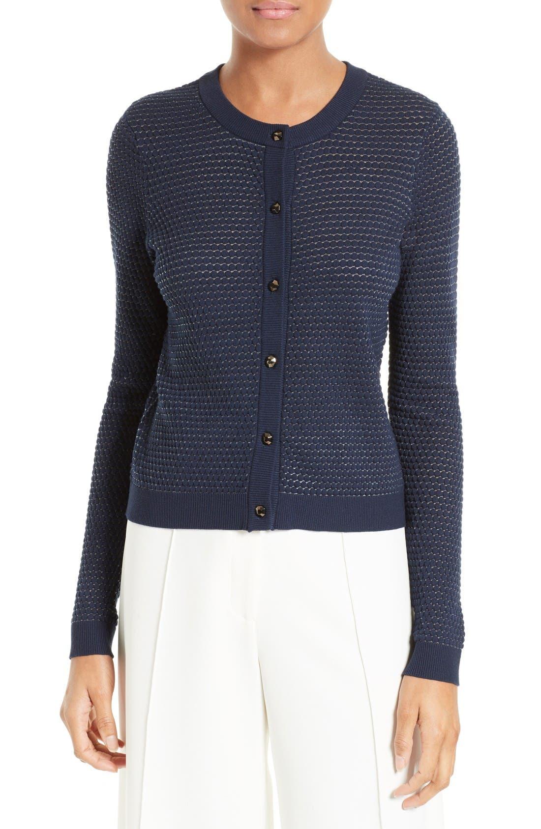 Main Image - Milly Hexagon Knit Cardigan