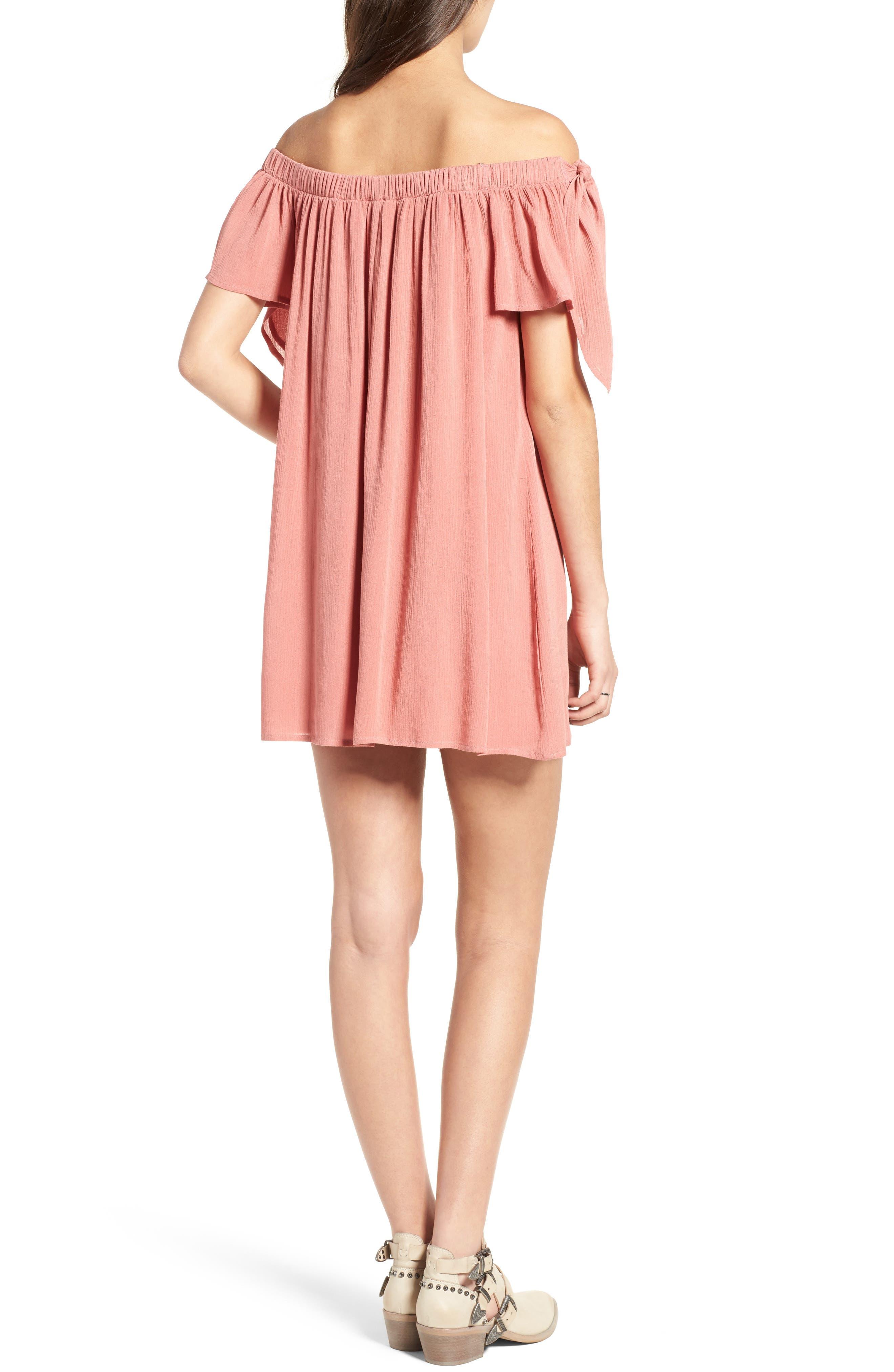 Alternate Image 2  - One Clothing Off the Shoulder Shift Dress