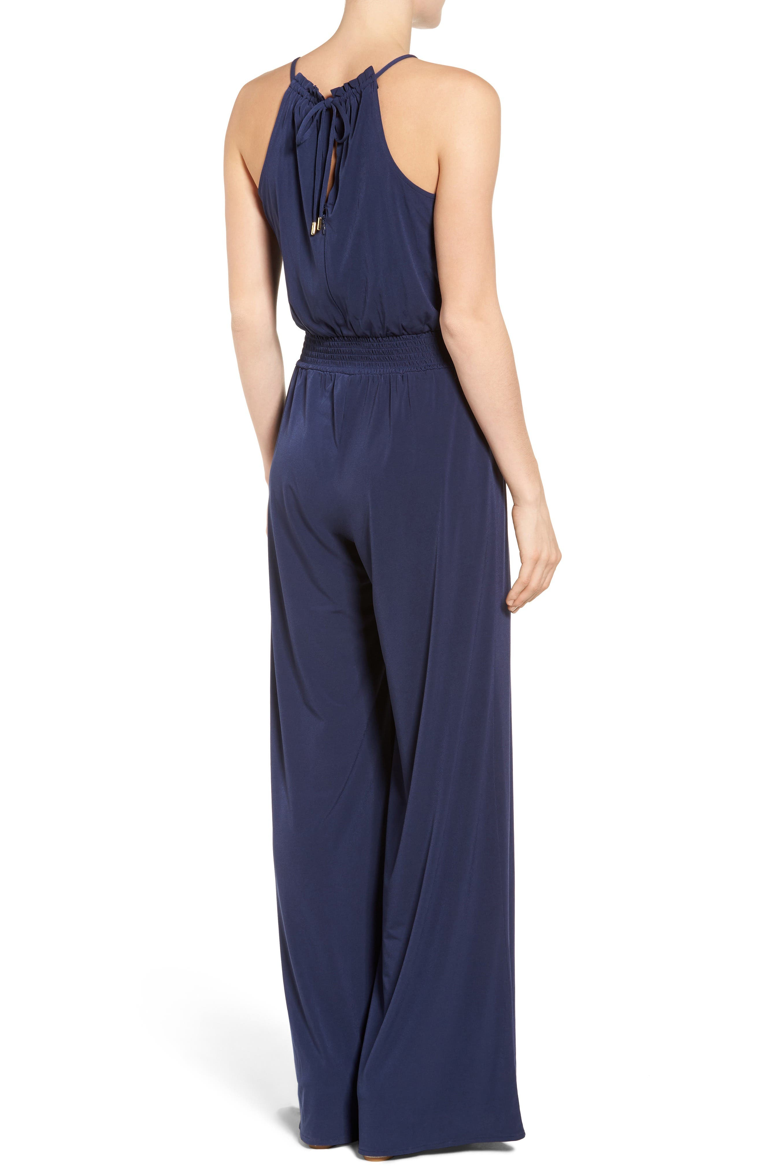 Alternate Image 2  - MICHAEL Michael Kors Embellished Smocked Waist Jumpsuit
