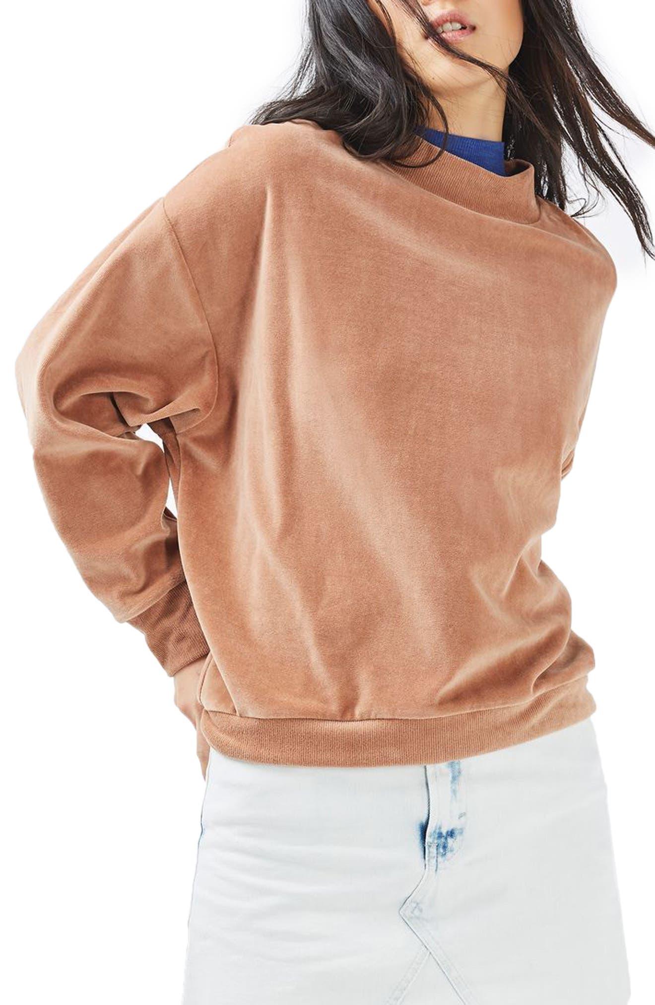 Alternate Image 5  - Topshop Moto Bleach Denim Miniskirt