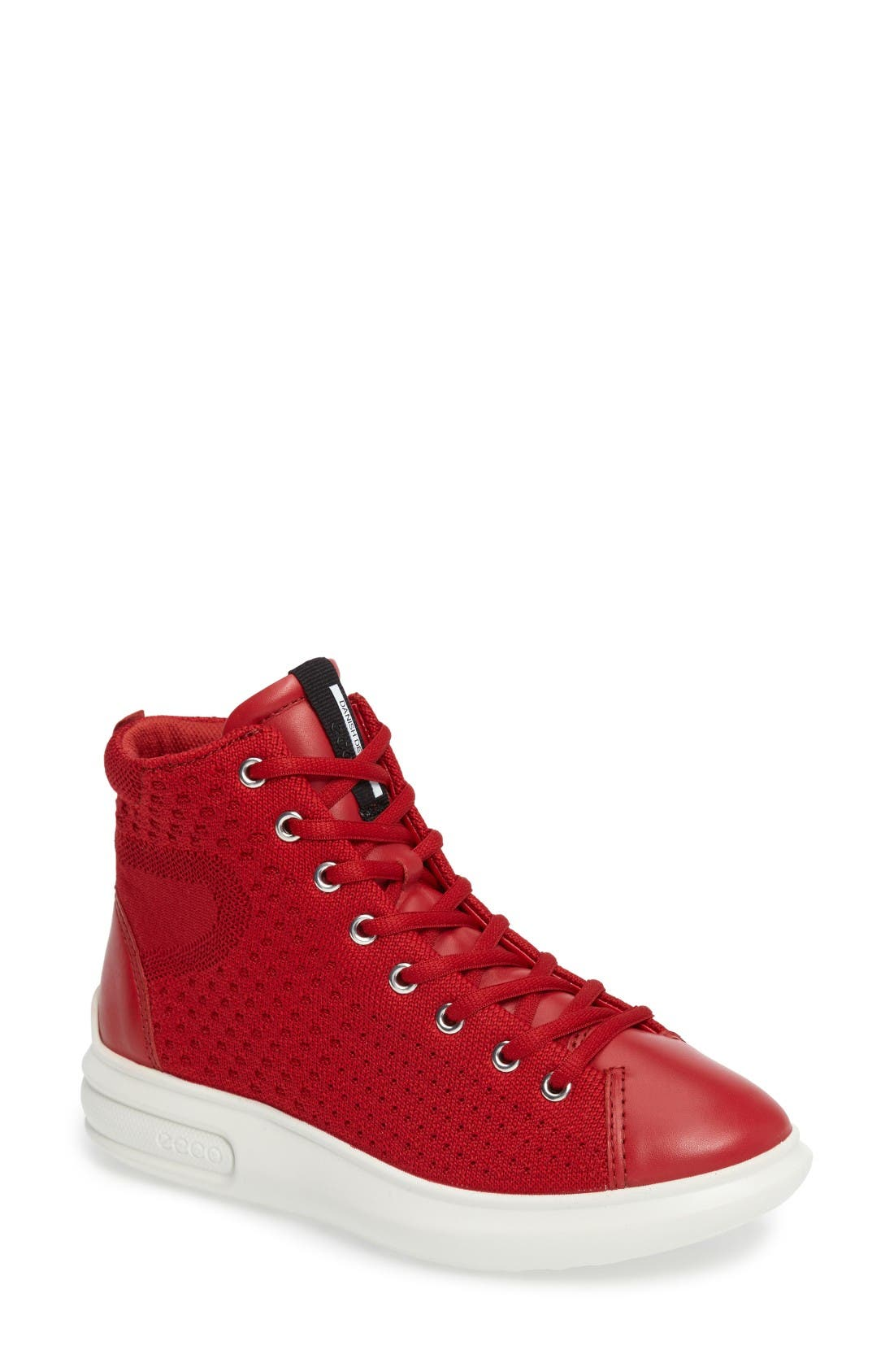 ECCO Soft 3 High Top Sneaker (Women)