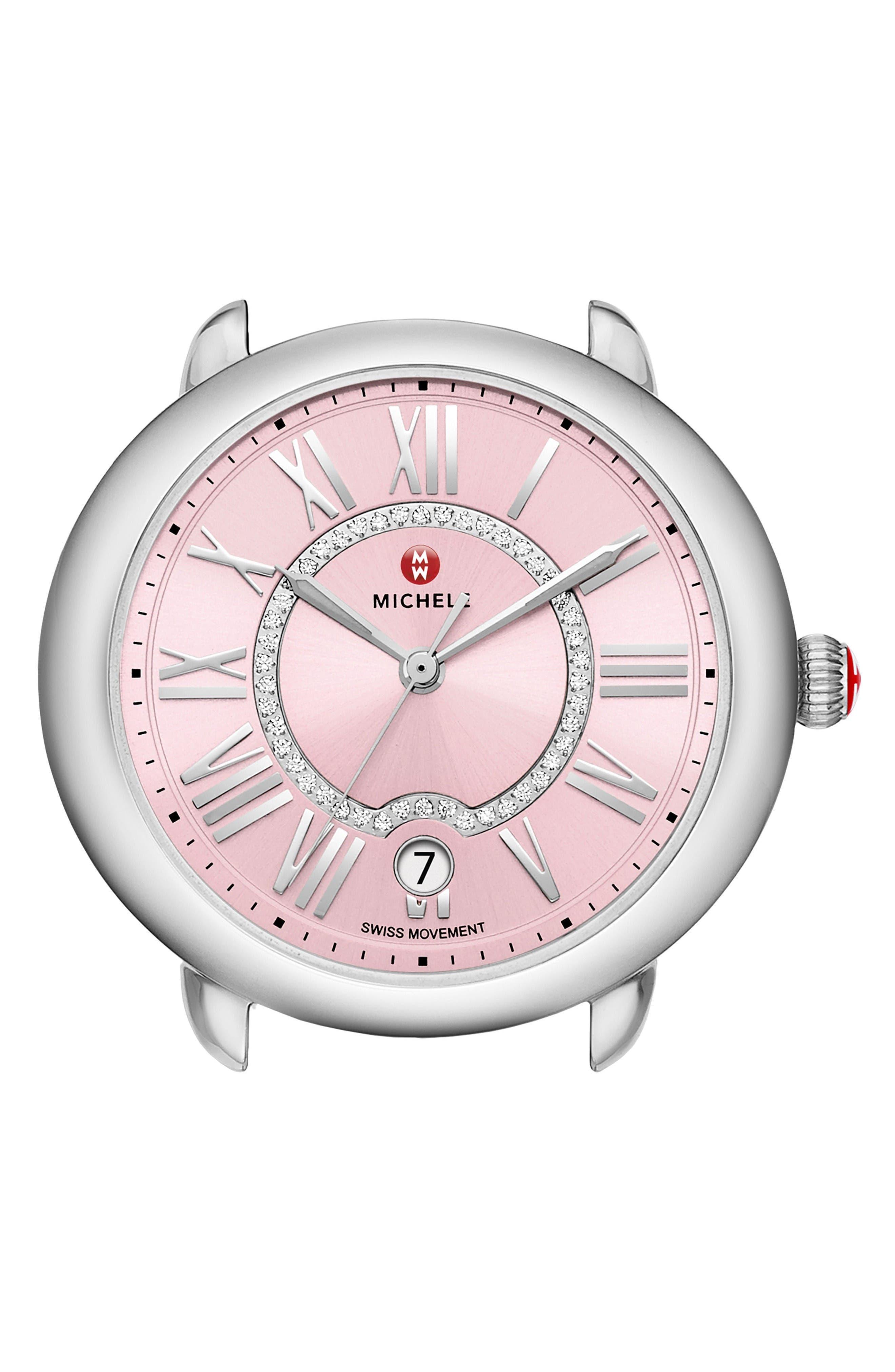 MICHELE Serein Diamond Dial Watch Case, 36mm x 34mm
