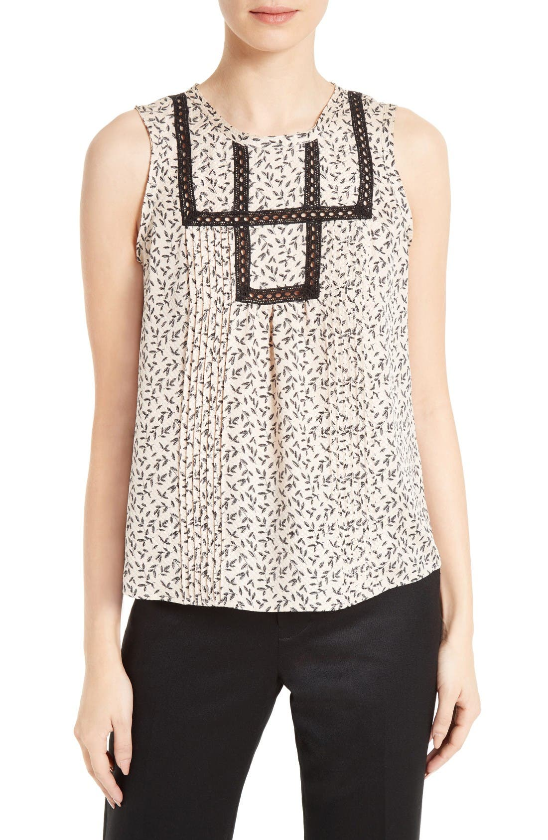 Main Image - Rebecca Taylor Embroidered Silk Top