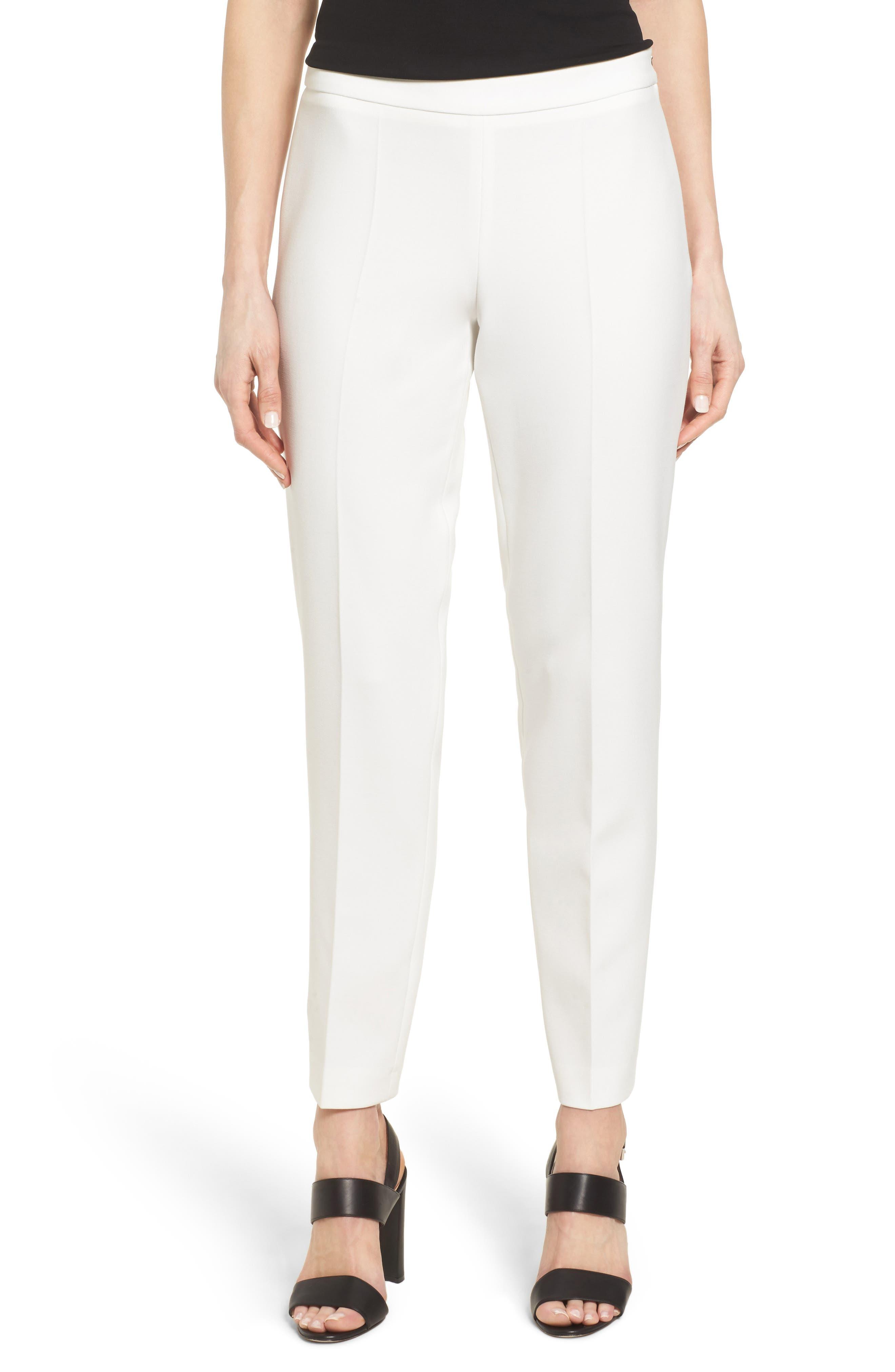 Alternate Image 1 Selected - BOSS 'Tiluna' Slim Leg Ankle Trousers (Regular & Petite)
