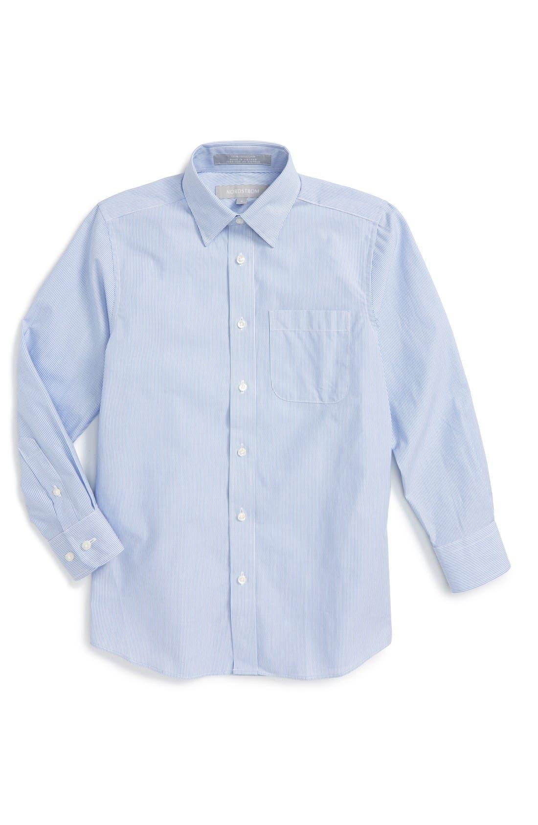 NORDSTROM Railroad Stripe Dress Shirt