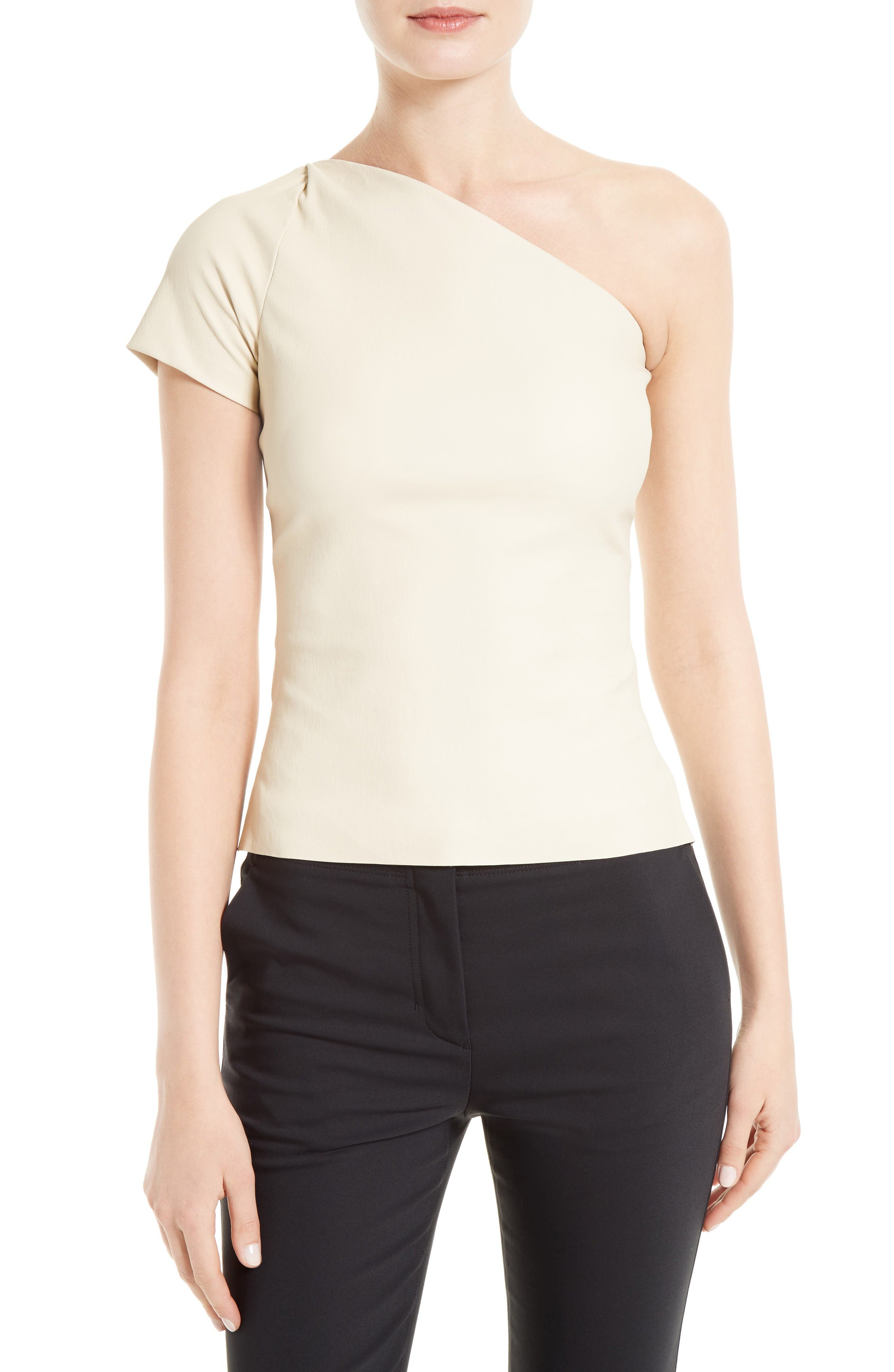 HELMUT LANG Matte Stretch Leather Top