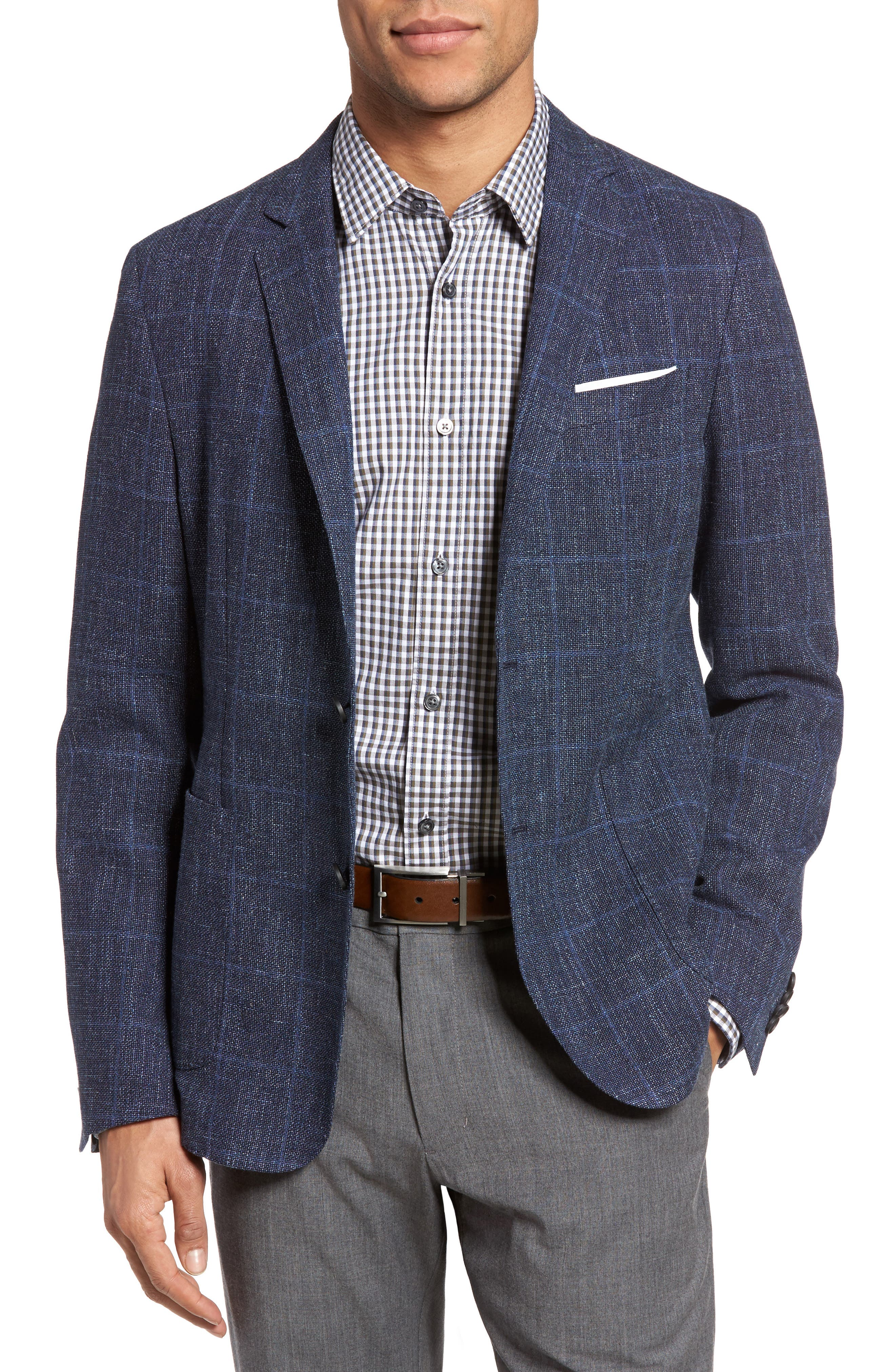 Alternate Image 1 Selected - BOSS Nold Trim Fit Unconstructed Wool Blend Sport Coat