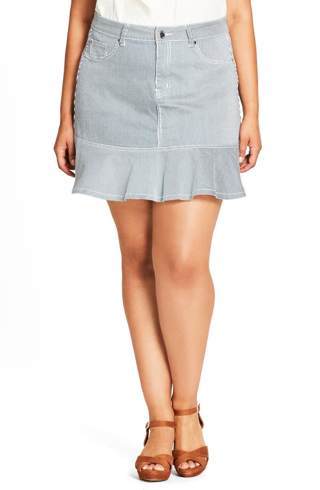 City Chic Cute Ruffle Skirt (Plus Size)