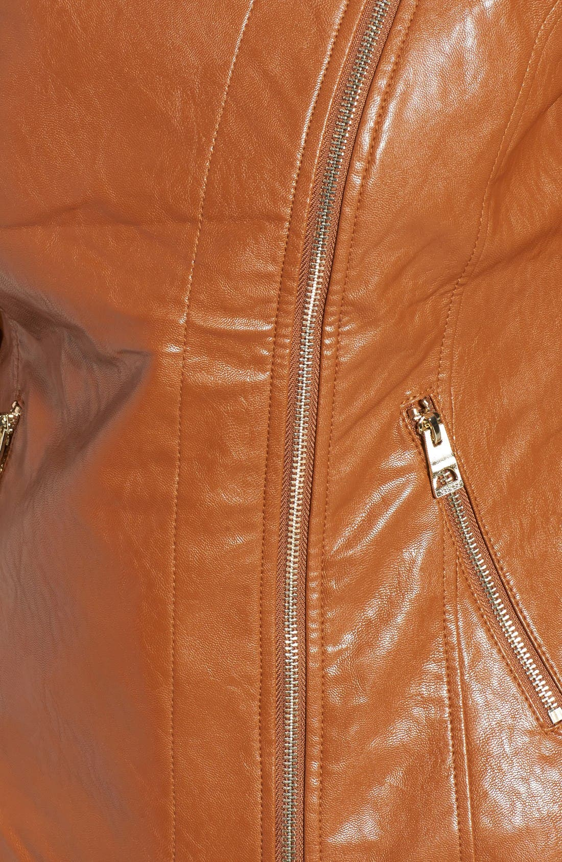 Alternate Image 5  - GUESS Asymmetrical Faux Leather Jacket