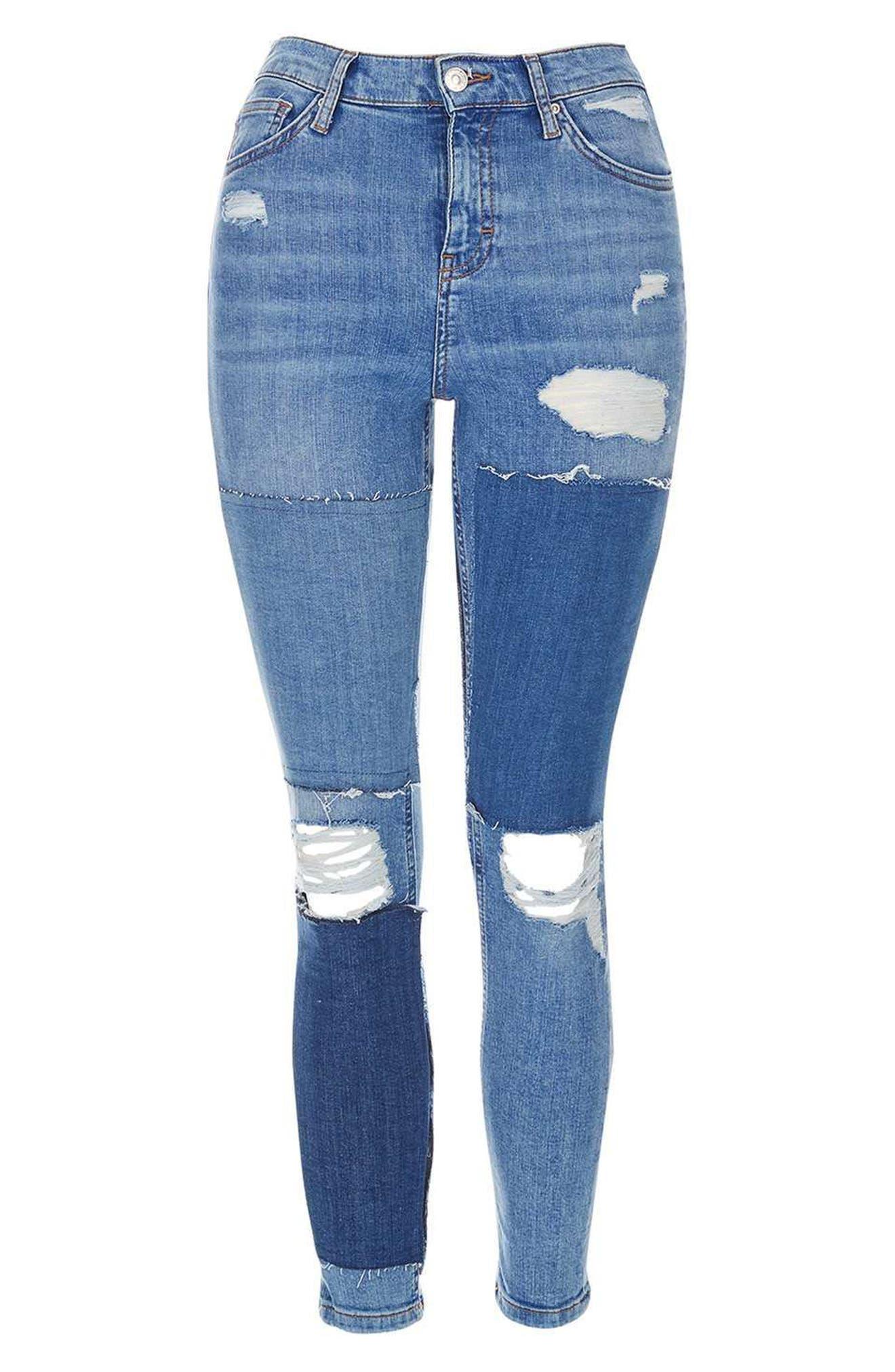 Alternate Image 4  - Topshop Moto Jamie Rip Panel Skinny Jeans