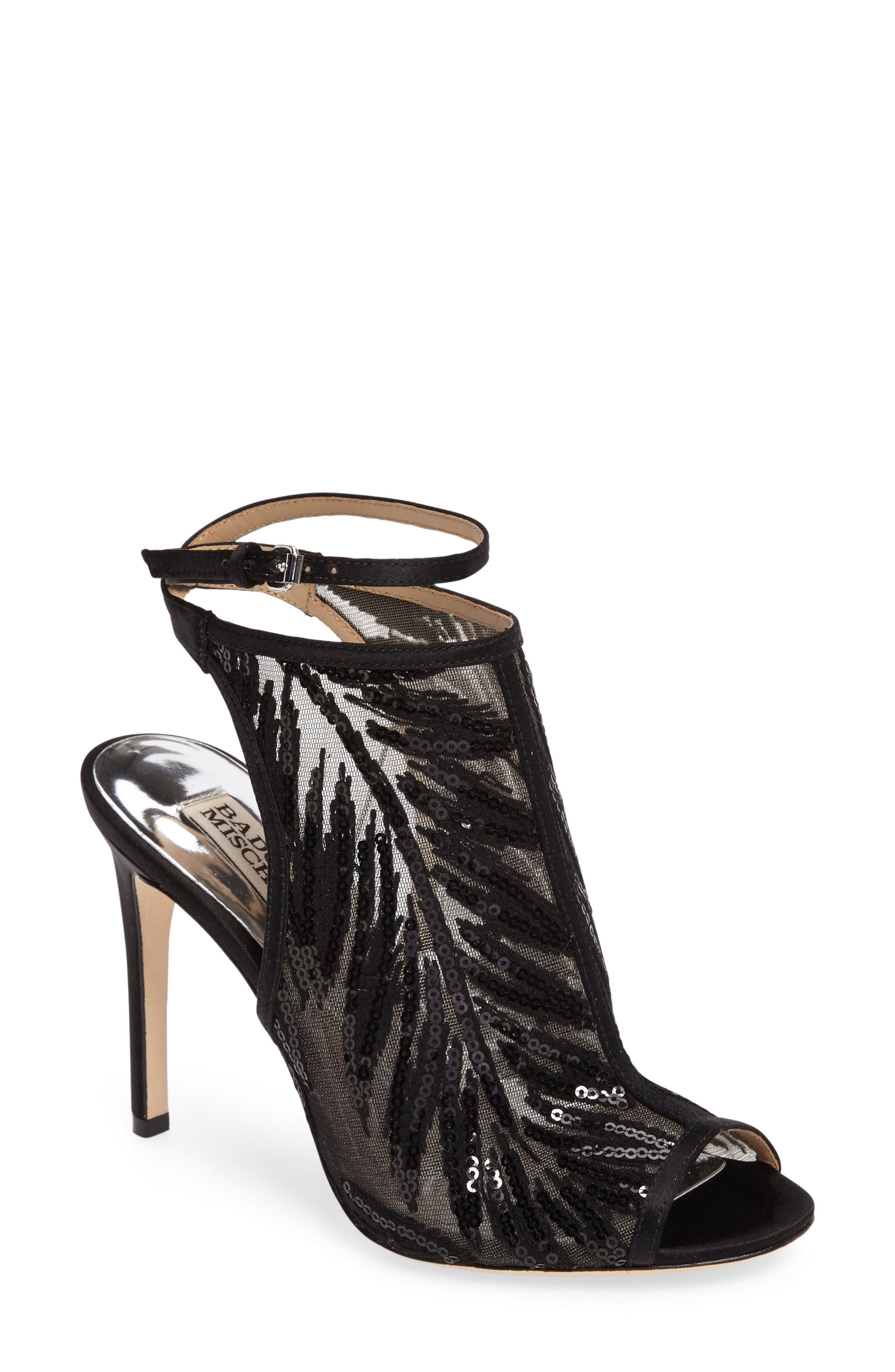 Main Image - Badgley Mischka Blakely Sequin Illusion Sandal (Women)