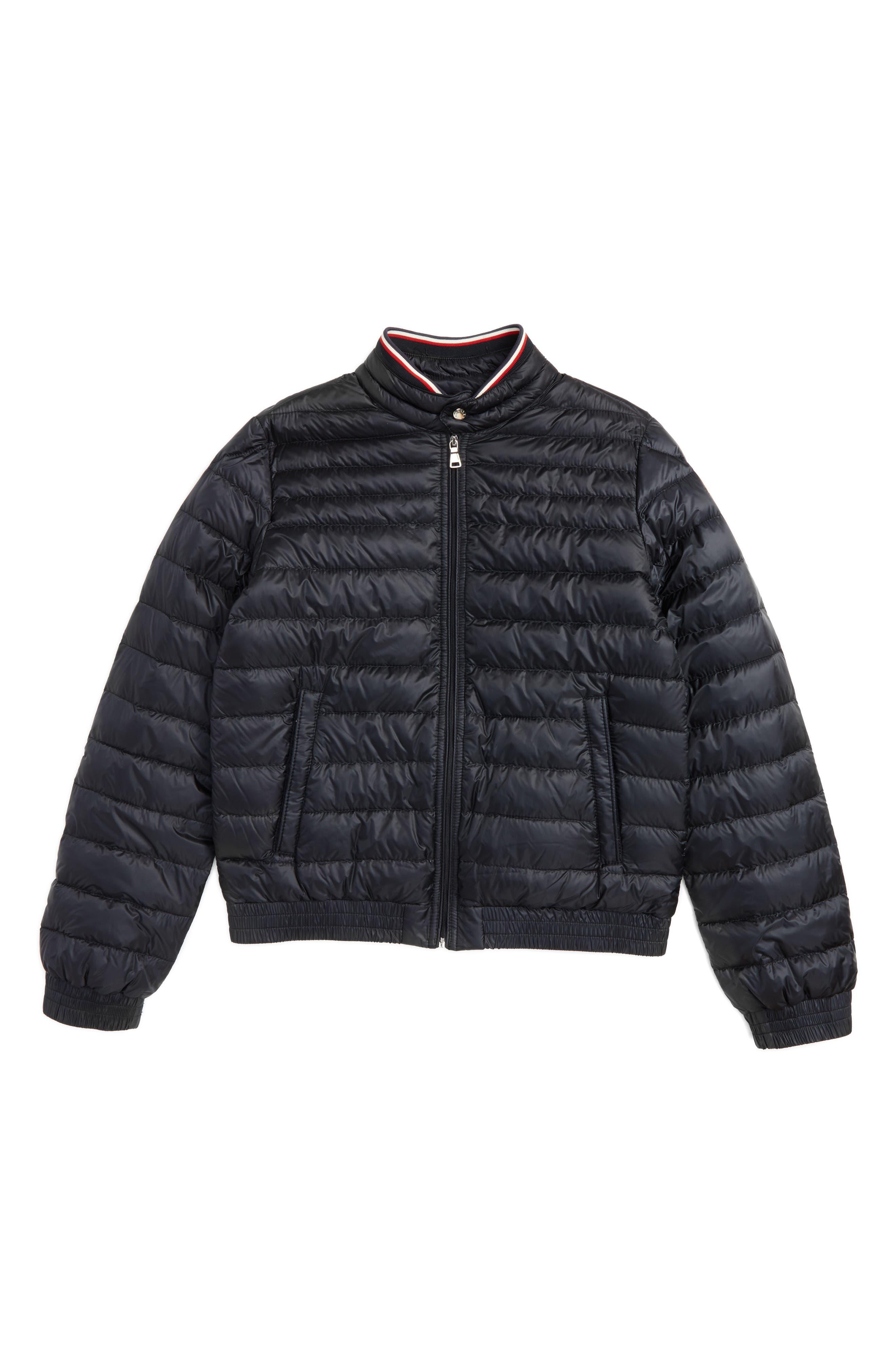 MONCLER Garin Water Resistant Down Moto Jacket