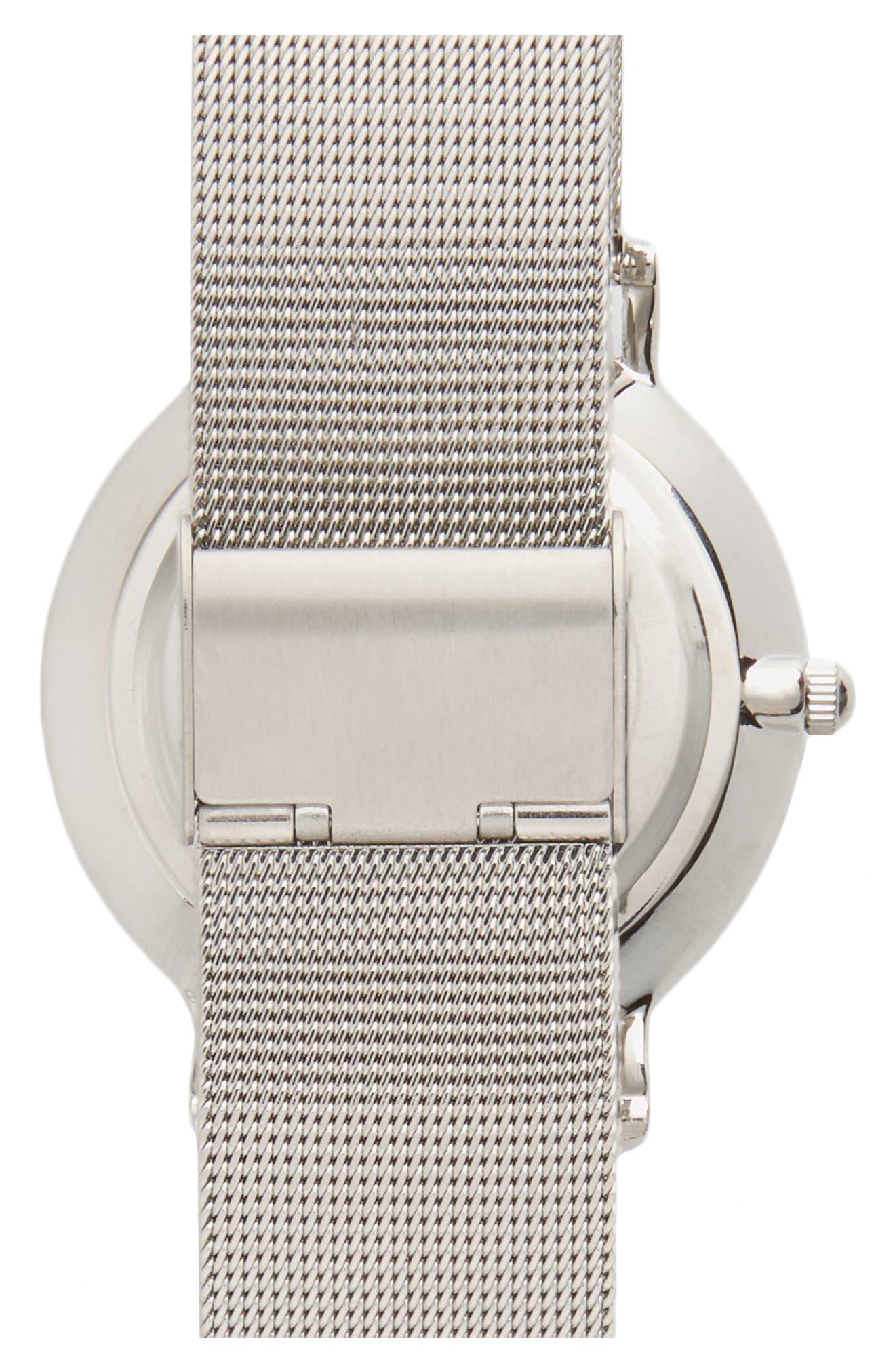 Alternate Image 2  - Topshop Look Mesh Strap Watch, 40mm